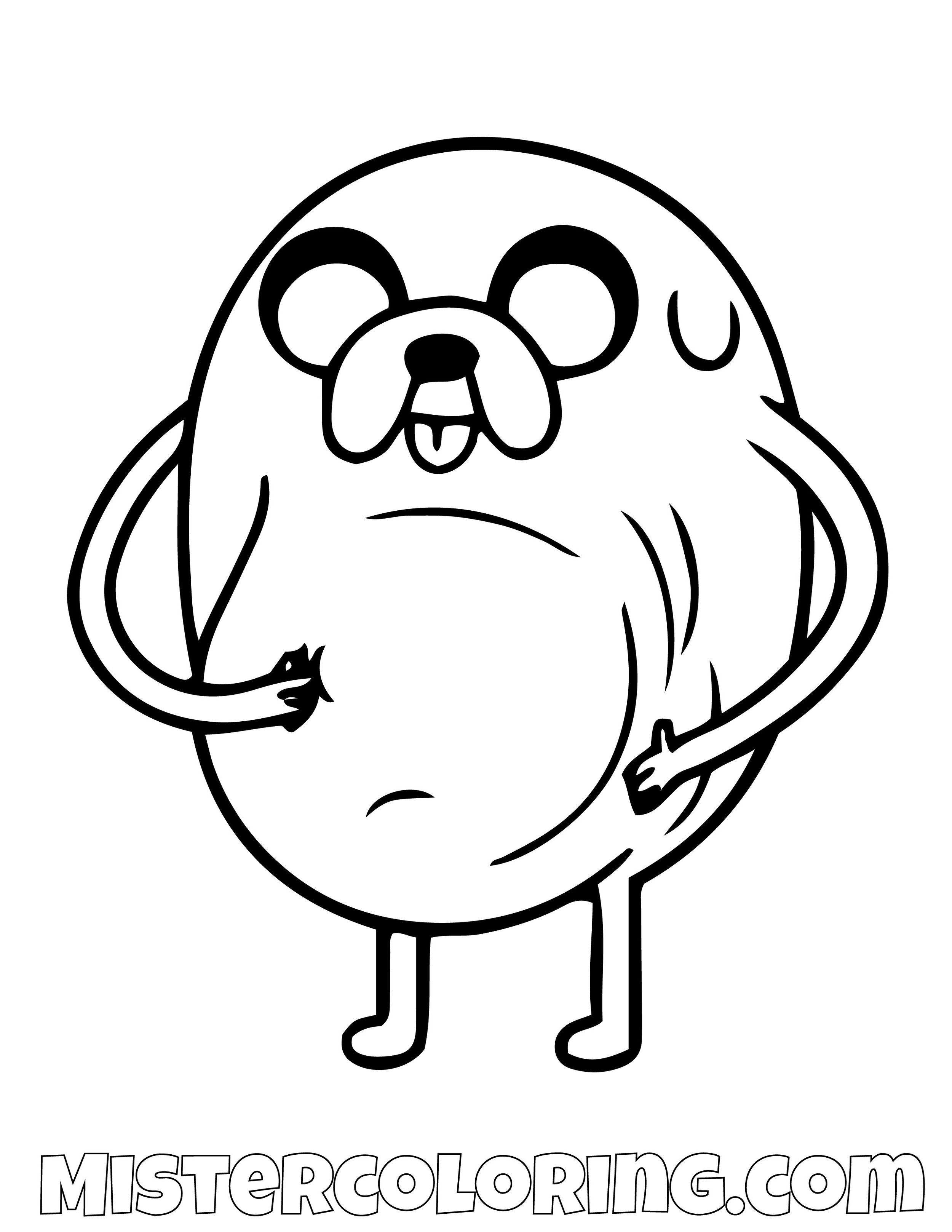 Jake The Dog Big Belly Adventure Time Coloring Page