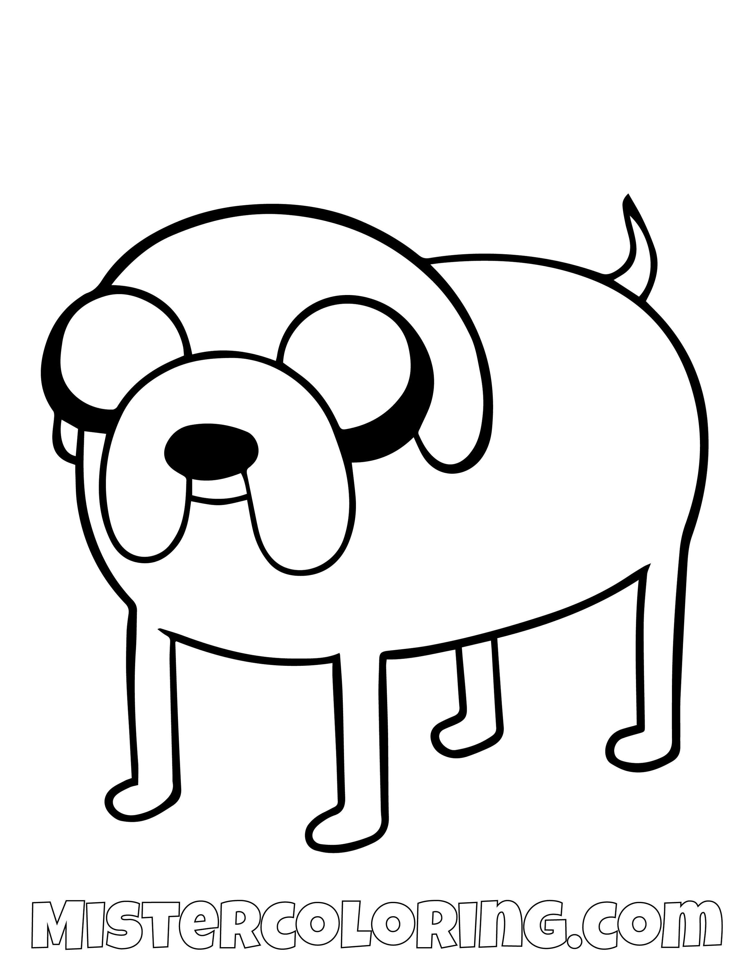 Jake The Dog On Four Legs Adventure Time Coloring Page