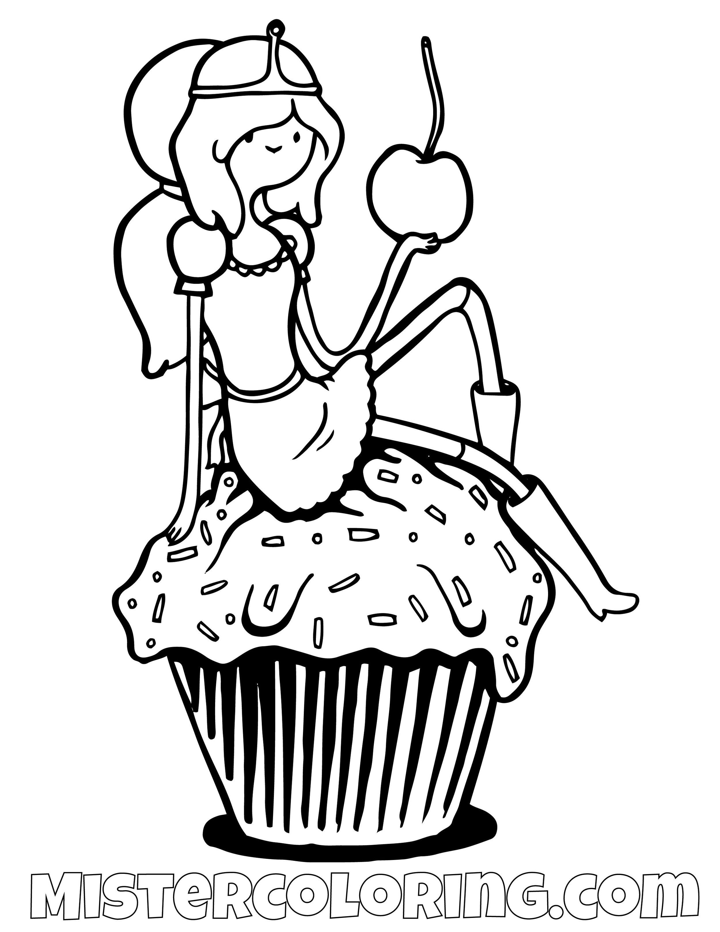 Princess Bubblegum Adventure Time Coloring Page