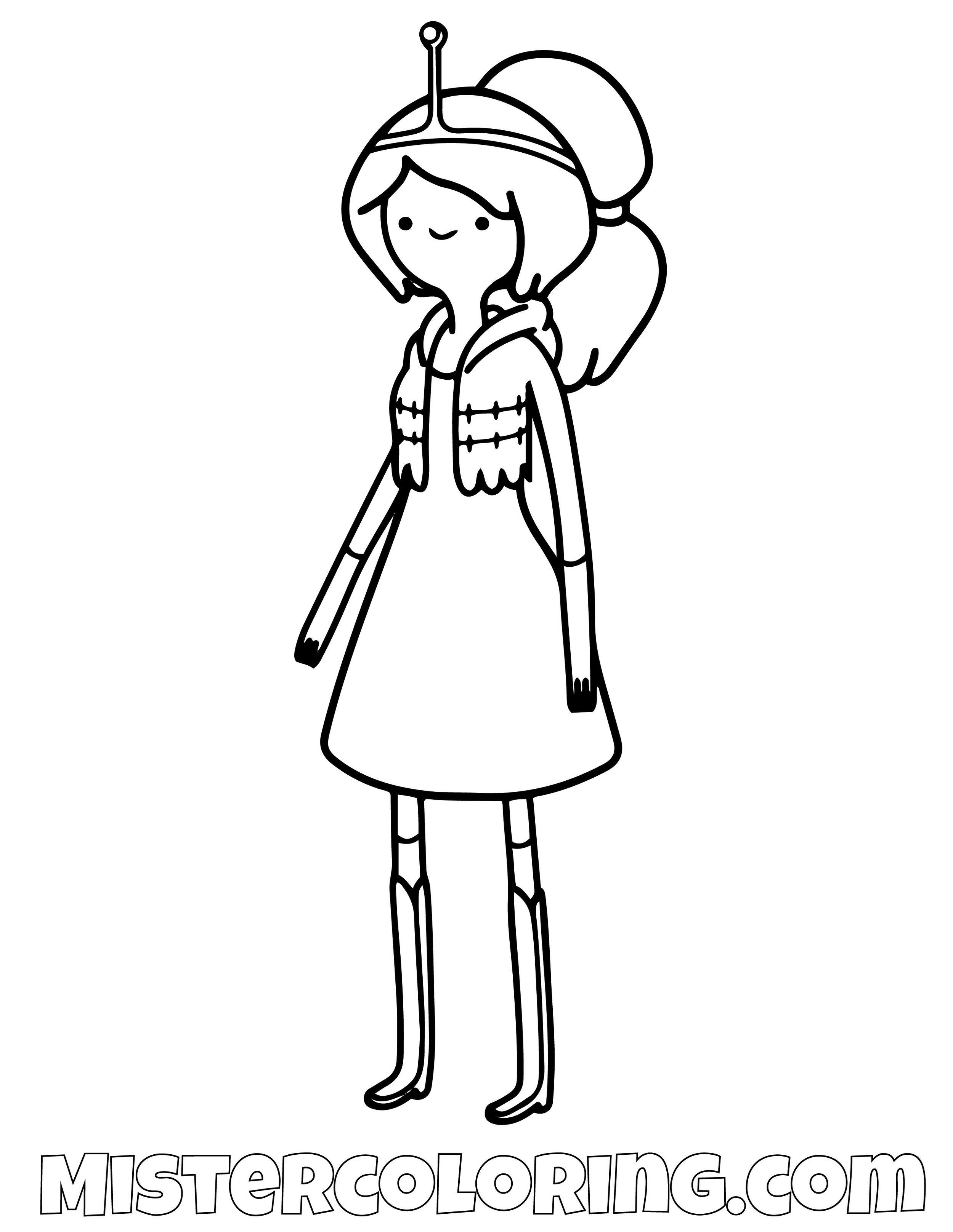 Princess Bubblegum Posing Adventure Time Coloring Page