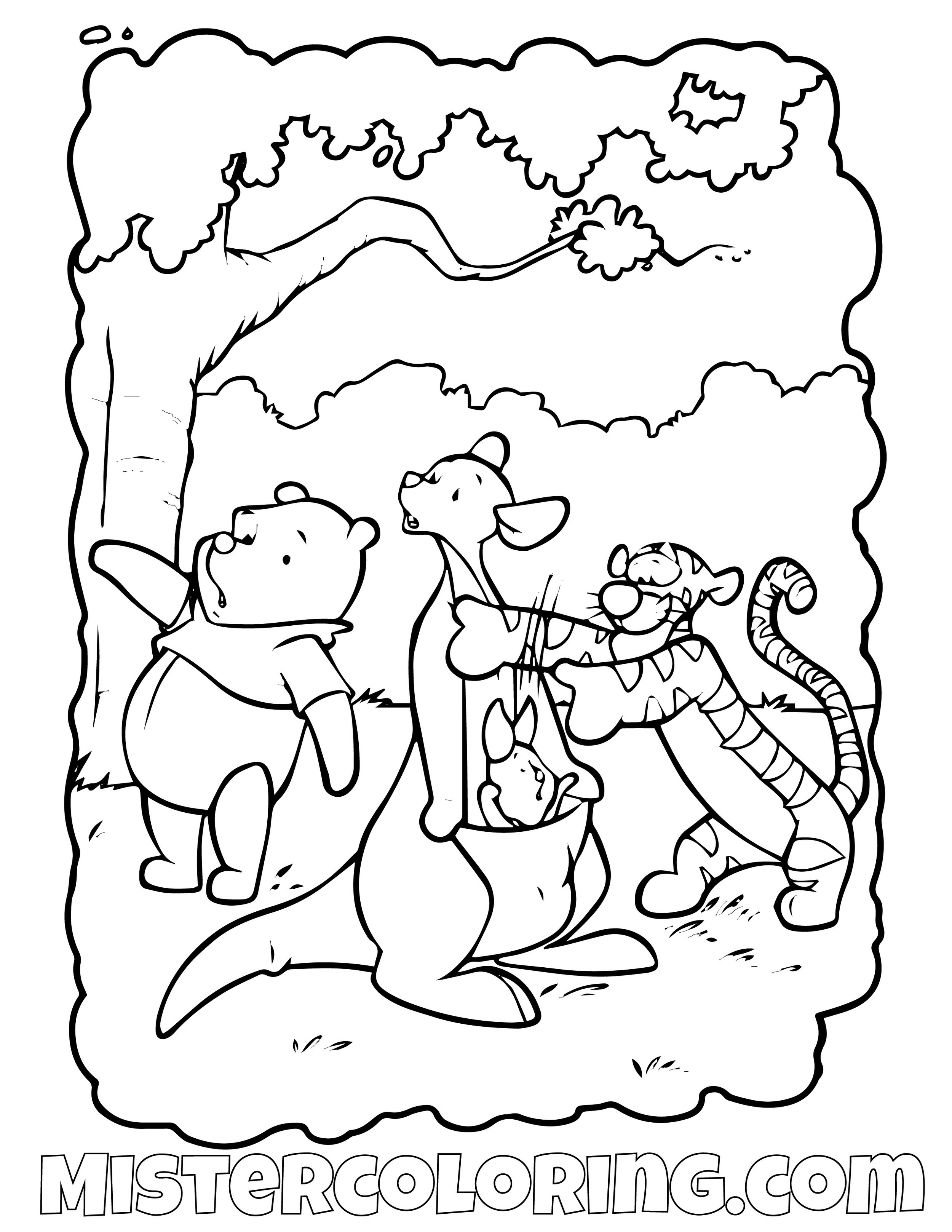 Winnie The Pooh 1 Coloring Page