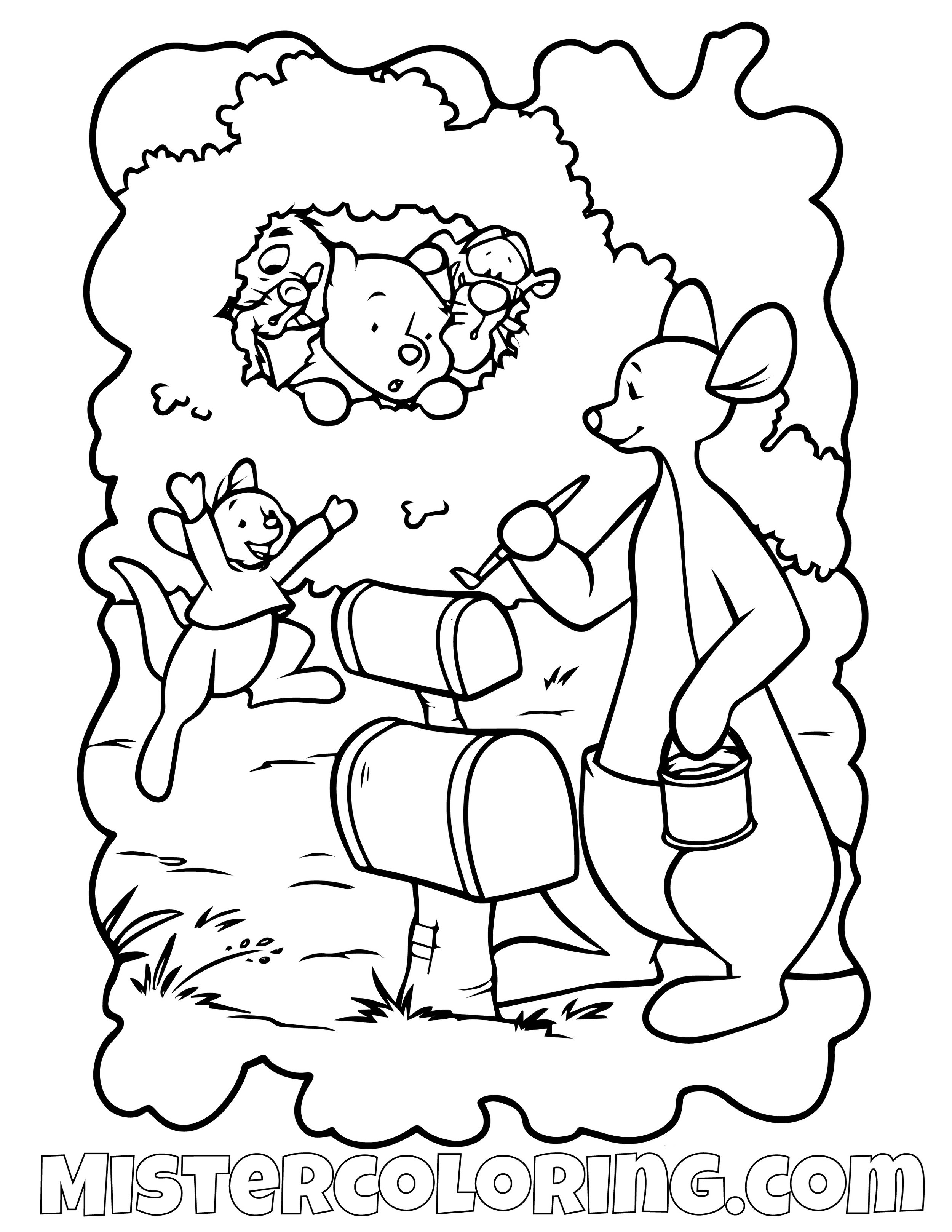 Winnie The Pooh 3 Coloring Page