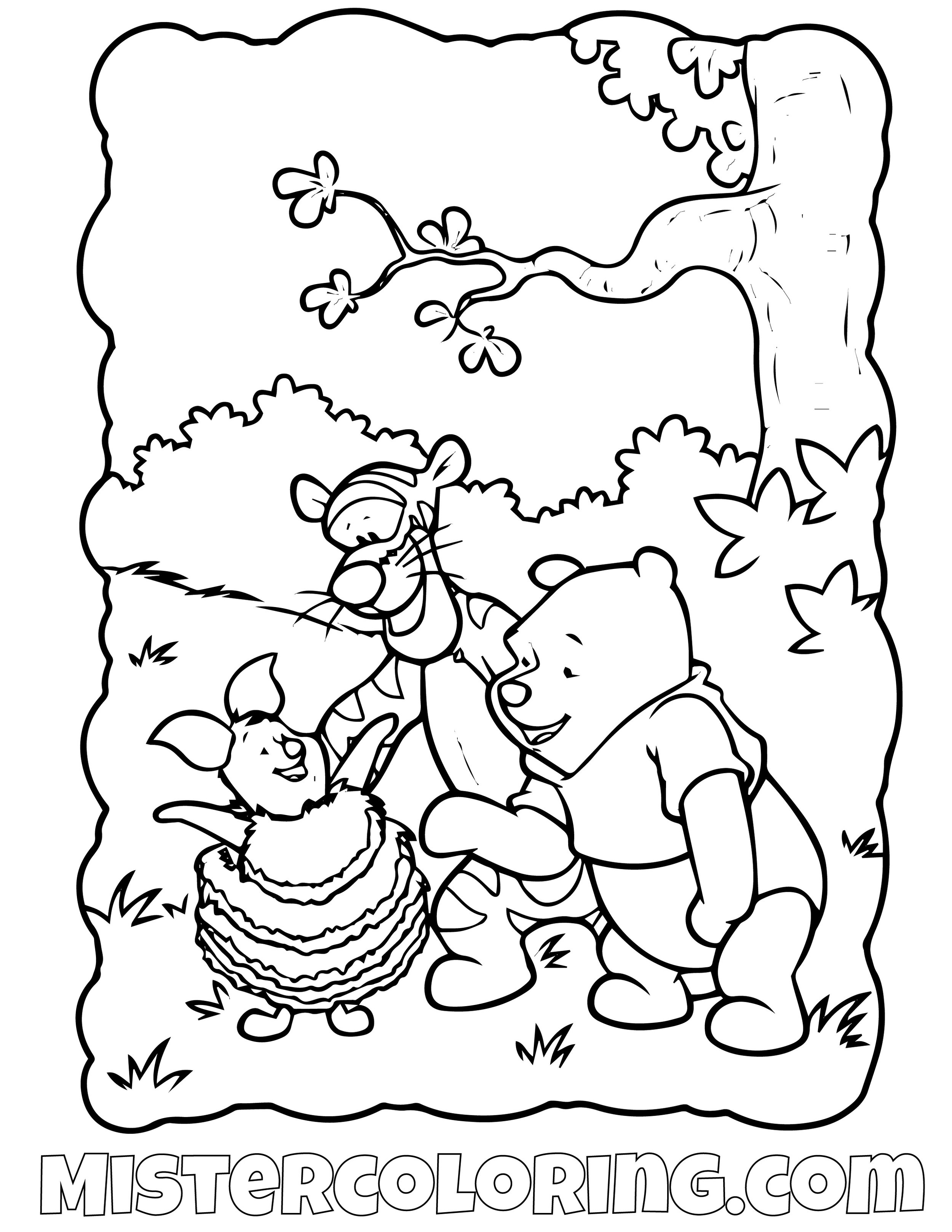 Winnie The Pooh 6 Coloring Page