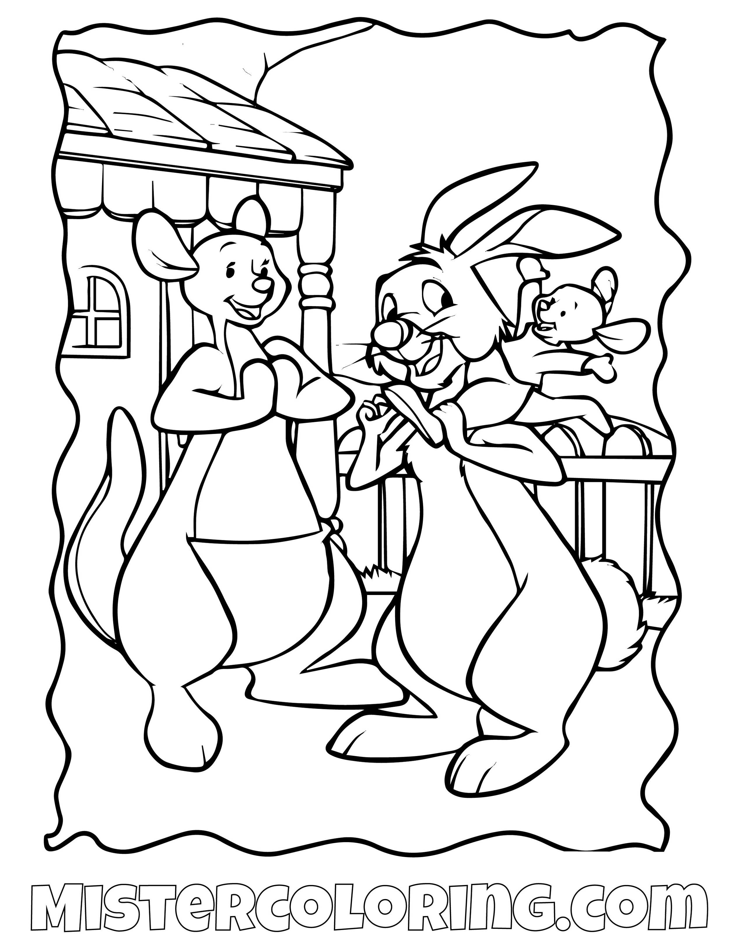 Winnie The Pooh 8 Coloring Page