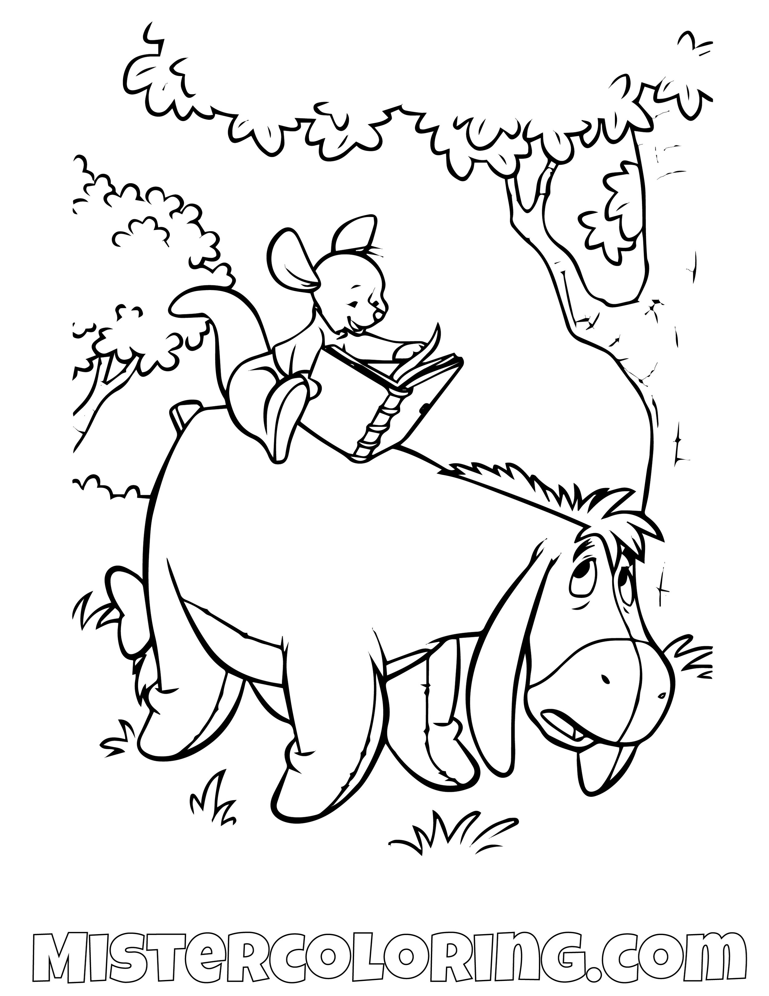 Winnie The Pooh 9 Coloring Page