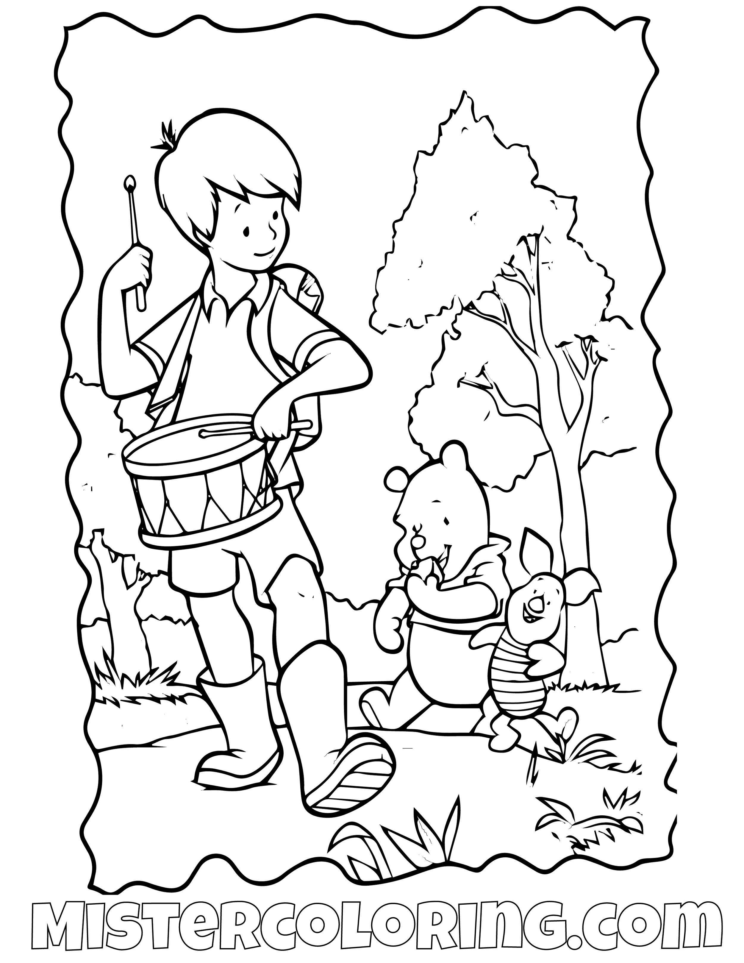 Winnie The Pooh 10 Coloring Page
