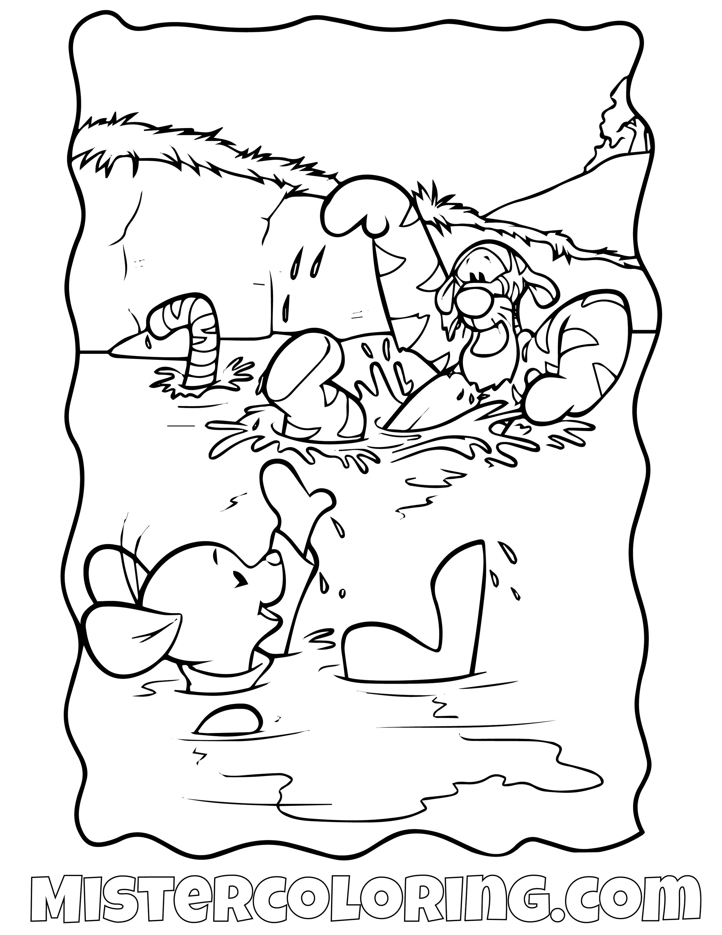 Winnie The Pooh 12 Coloring Page