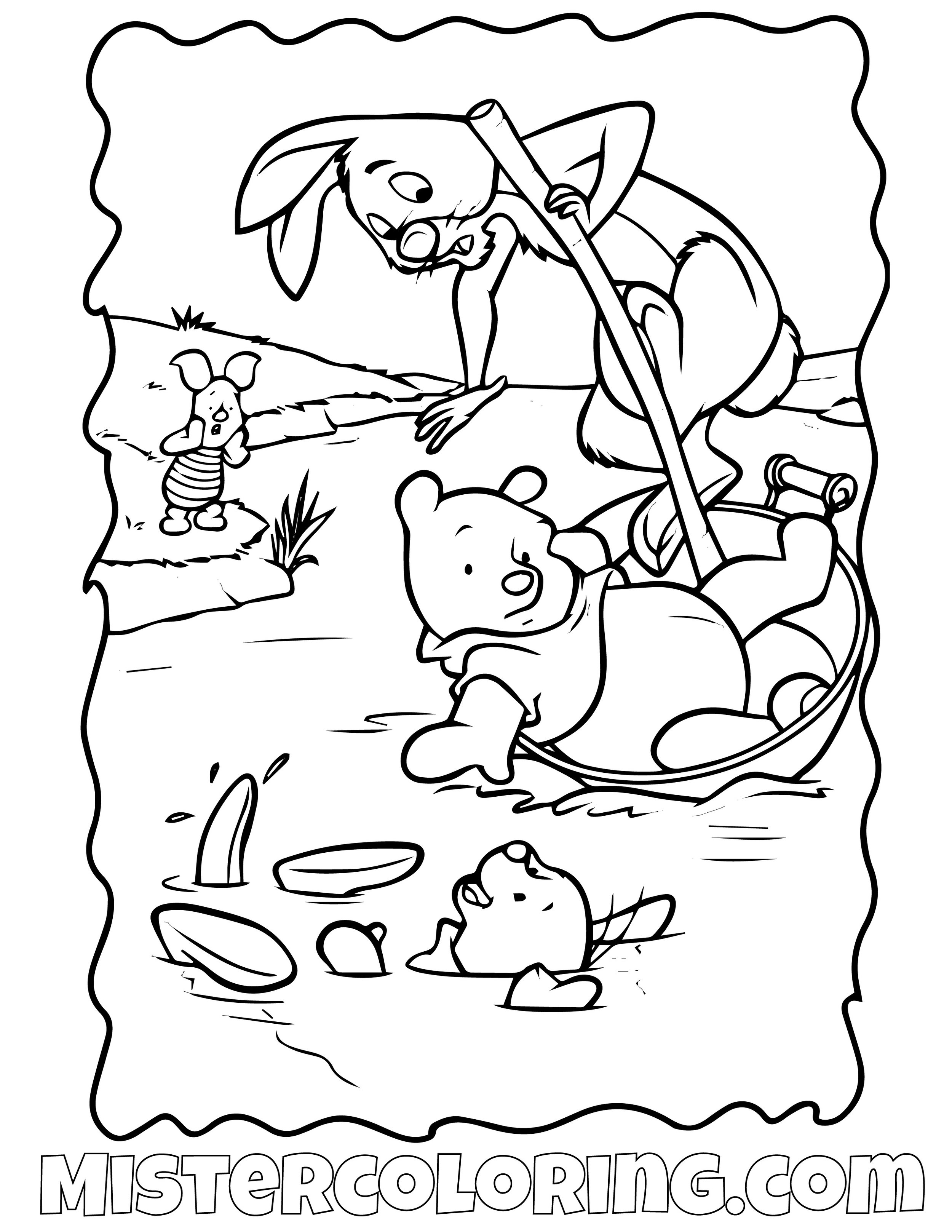 Winnie The Pooh 13 Coloring Page