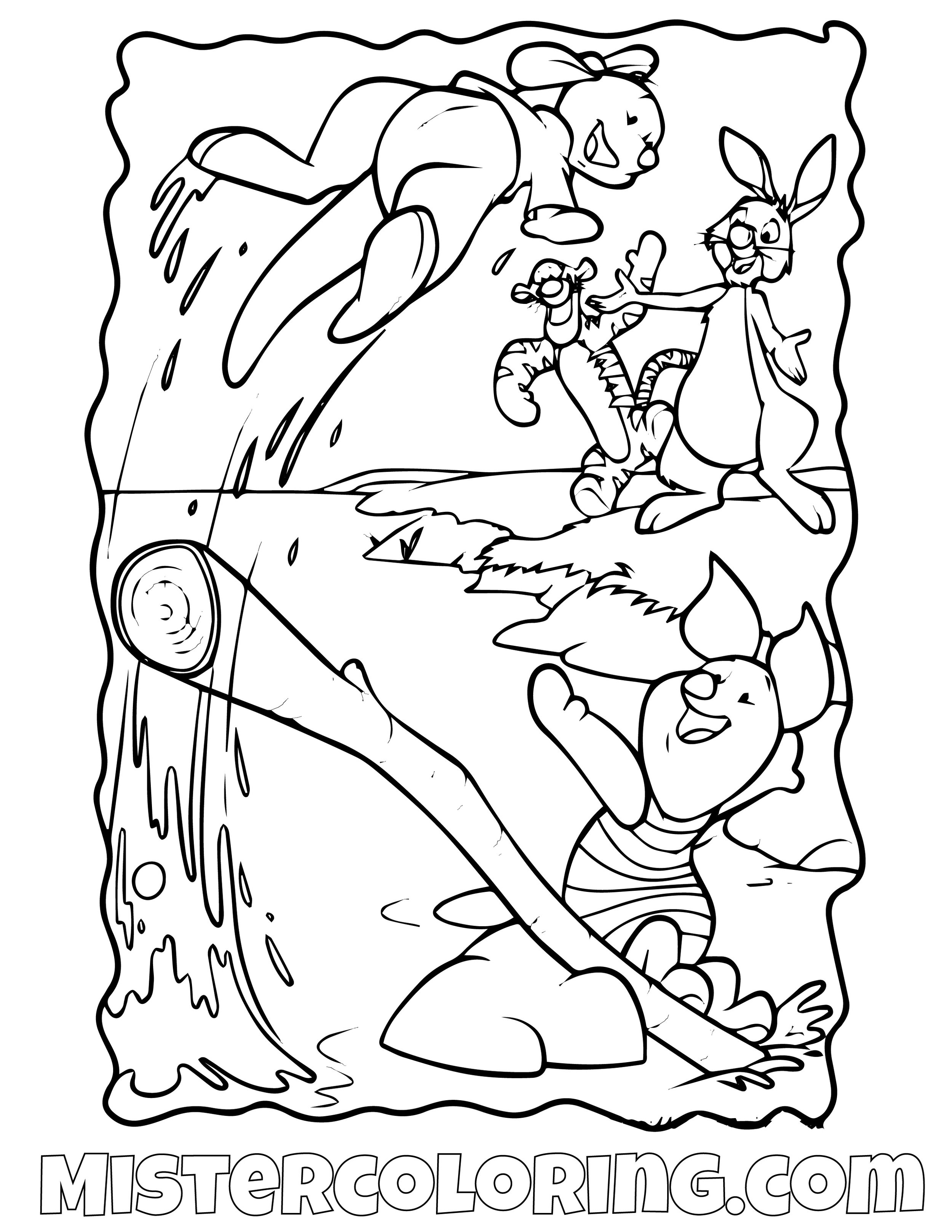 Winnie The Pooh 14 Coloring Page