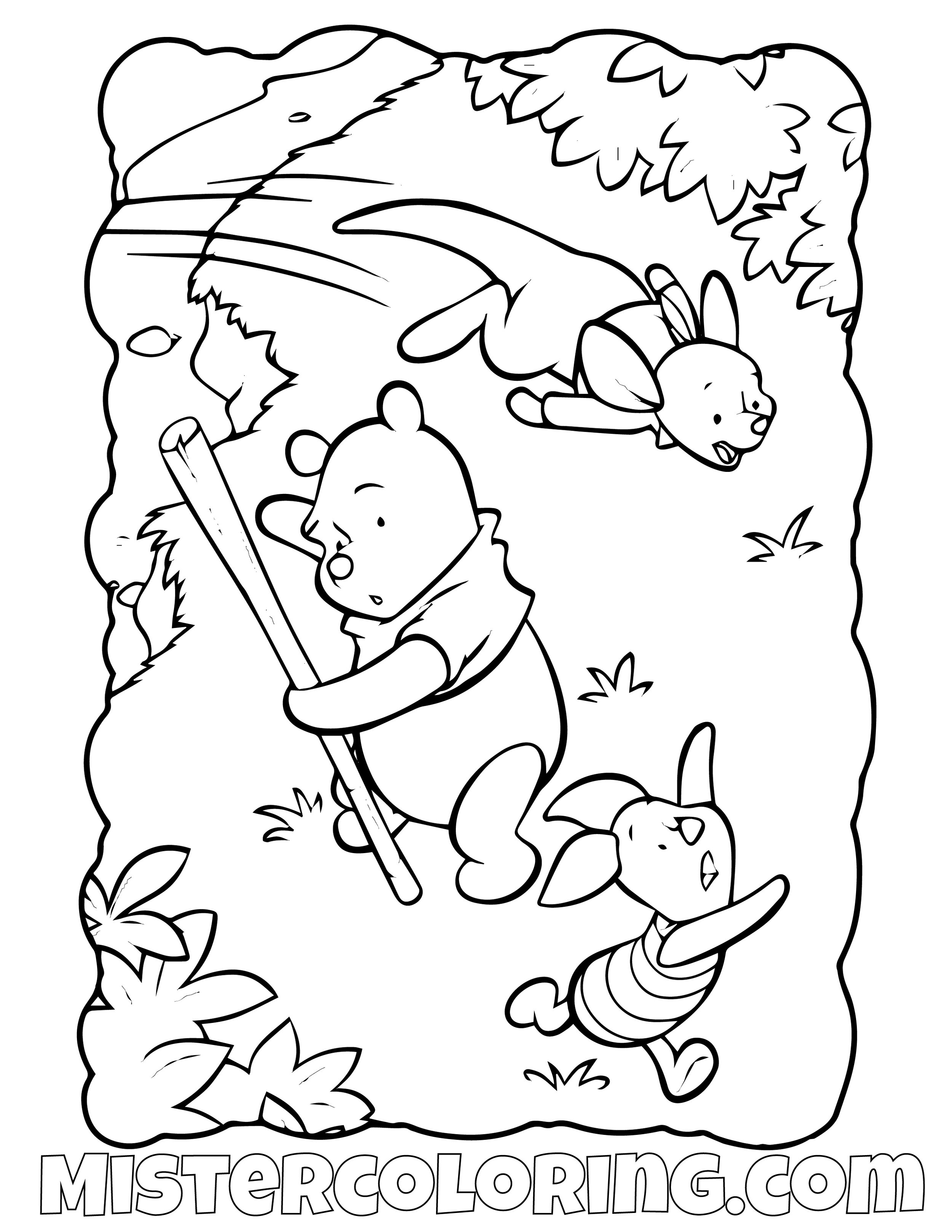Winnie The Pooh 15 Coloring Page