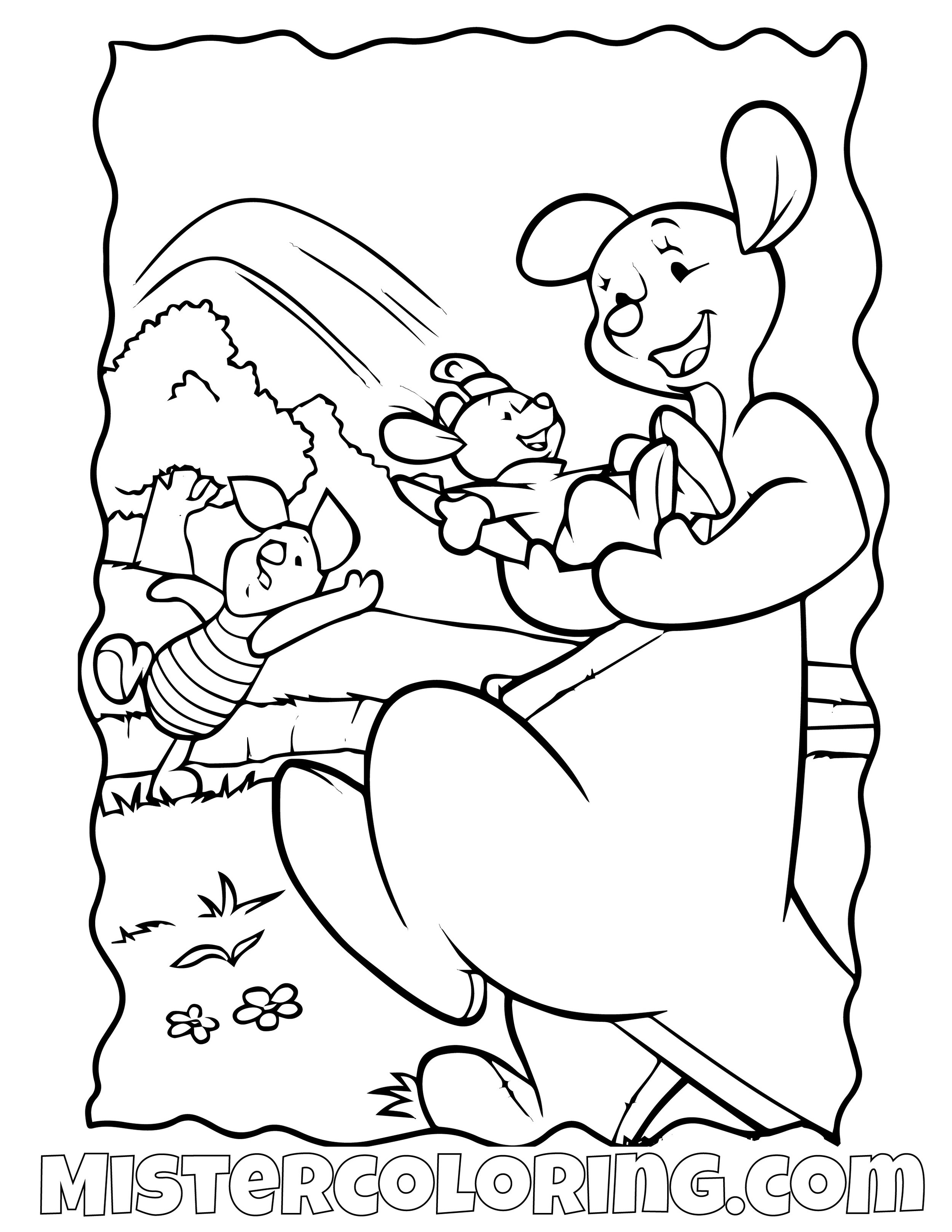 Winnie The Pooh 16 Coloring Page