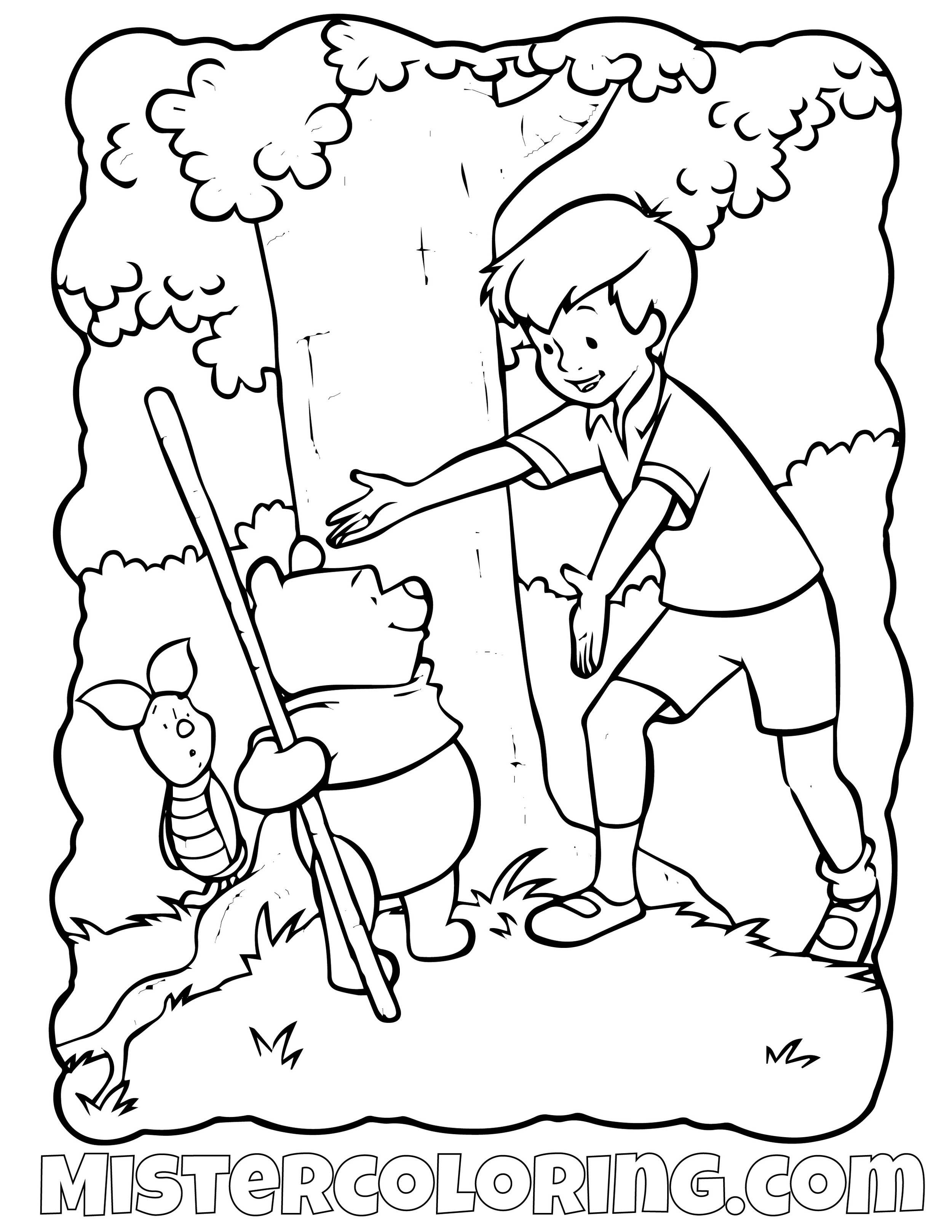 Winnie The Pooh 17 Coloring Page