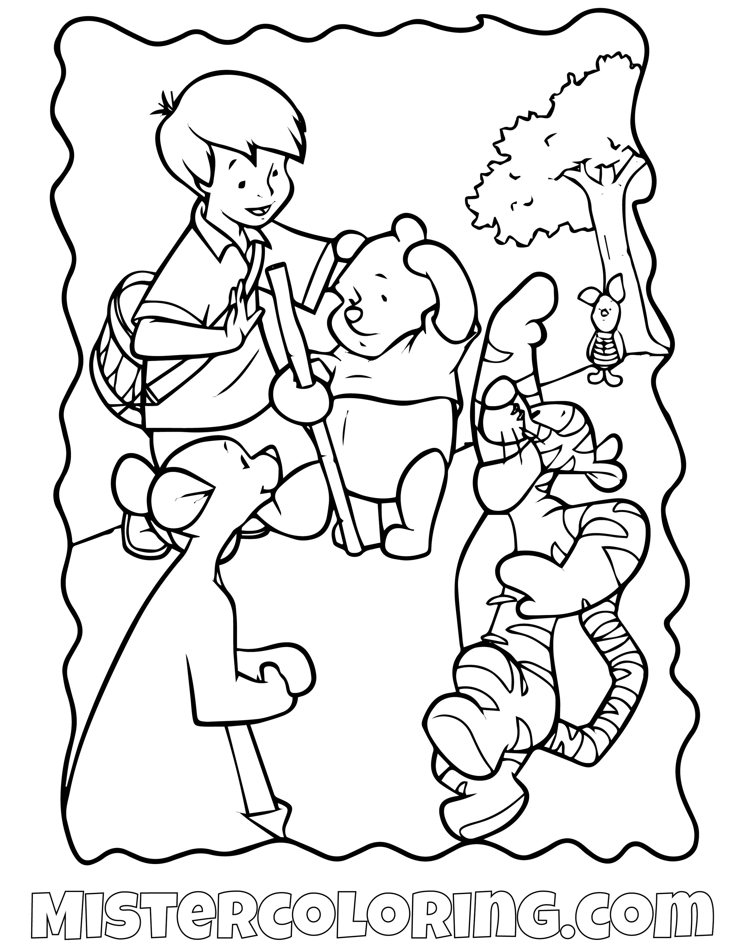 Winnie The Pooh 18 Coloring Page