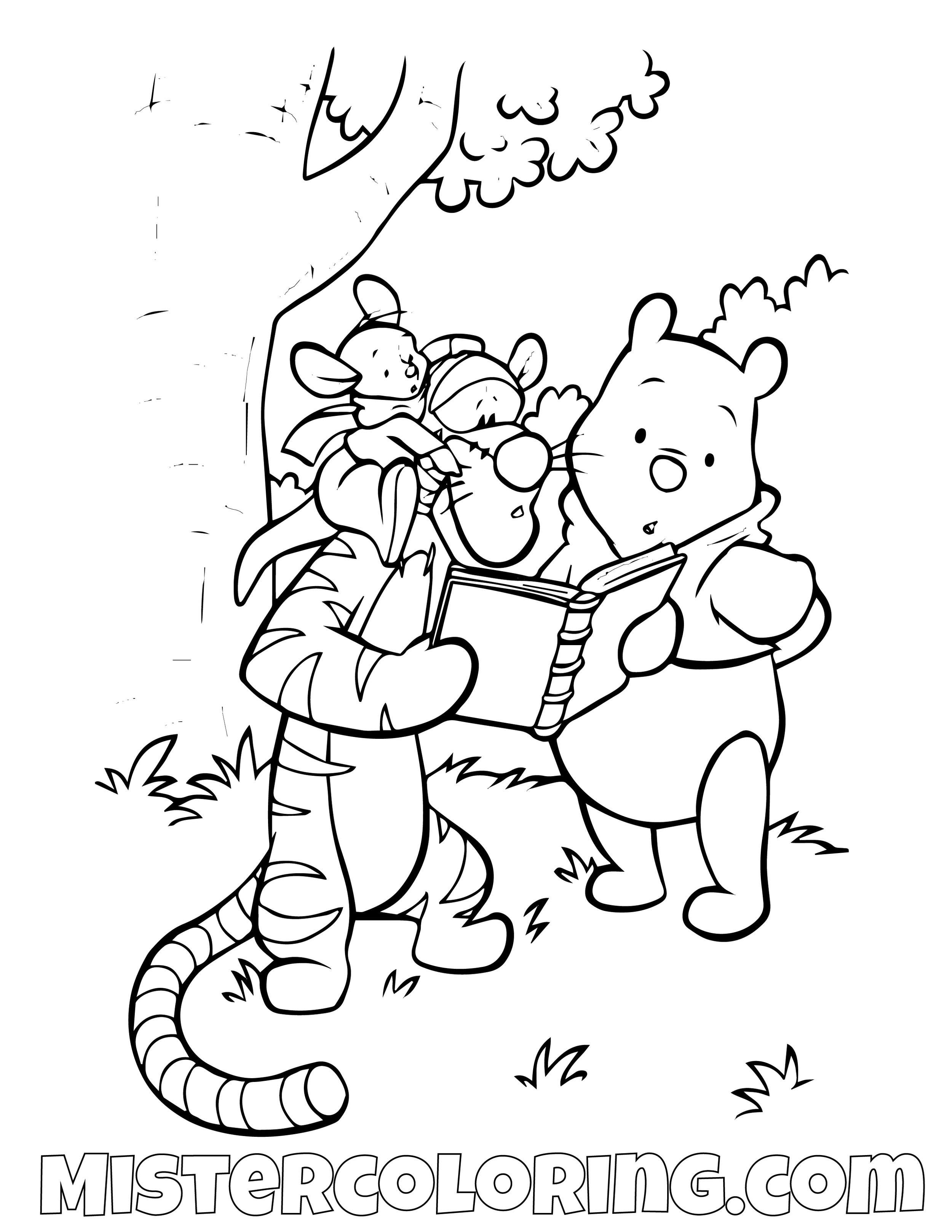Winnie The Pooh 19 Coloring Page