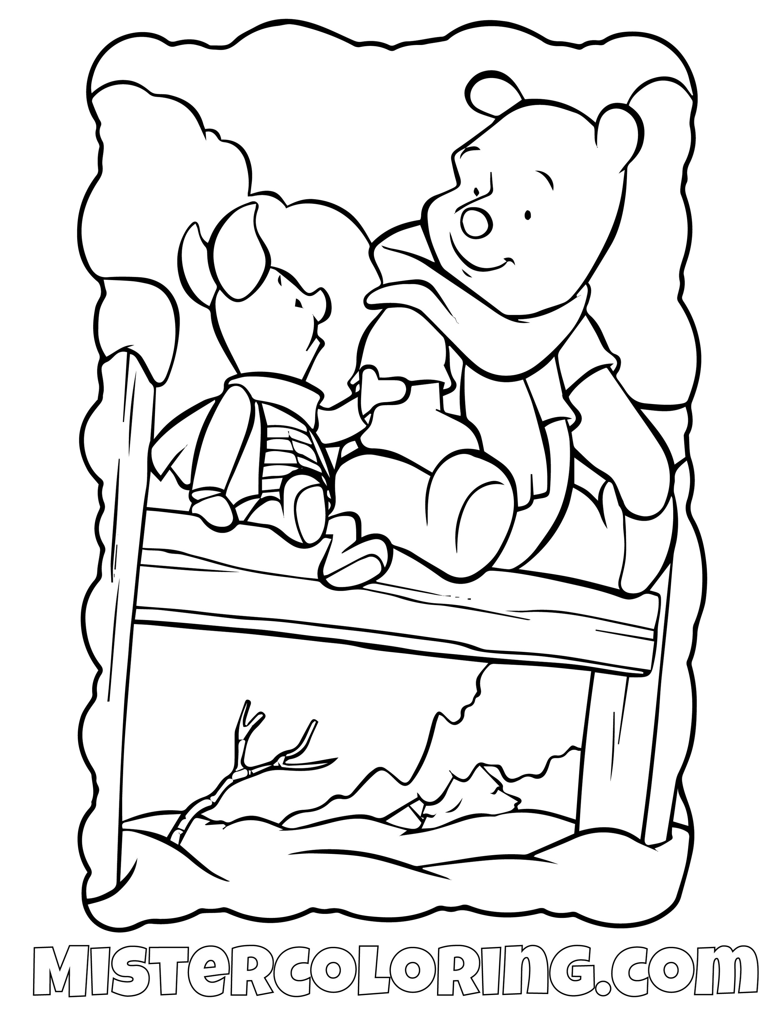 Winnie The Pooh 21 Coloring Page
