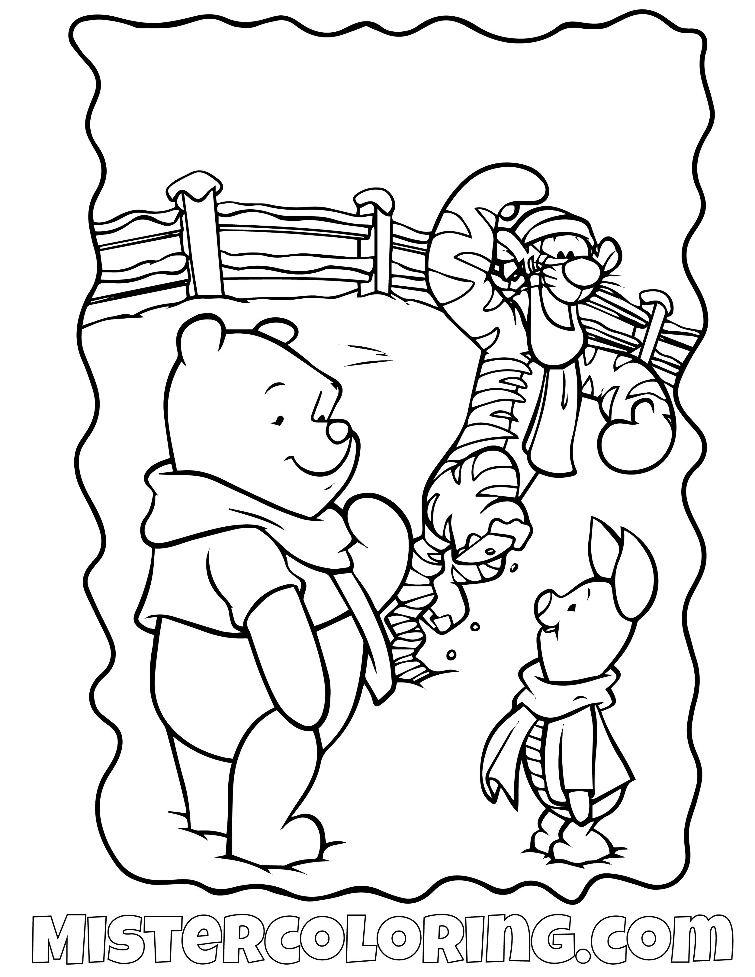 Winnie The Pooh 22 Coloring Page