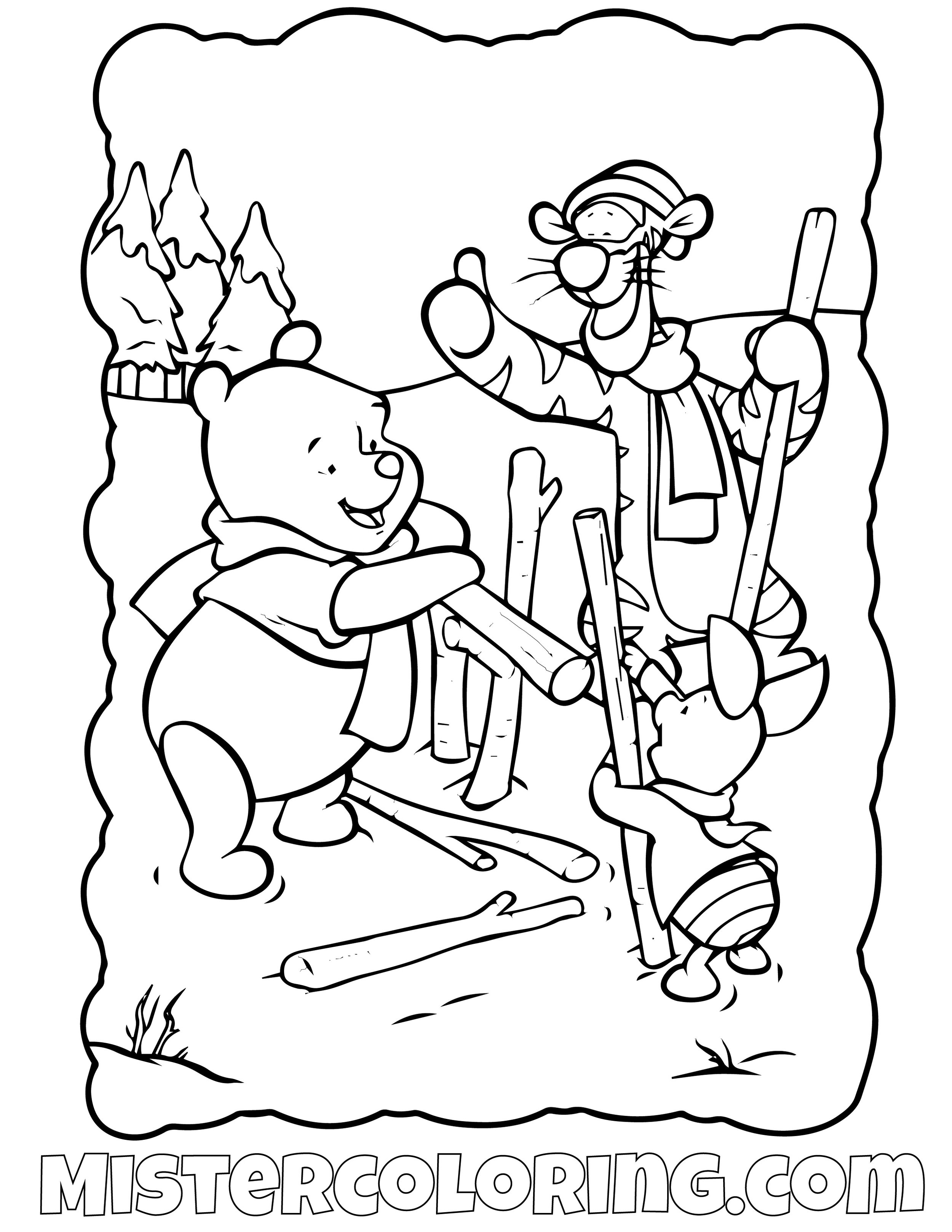 Winnie The Pooh 23 Coloring Page