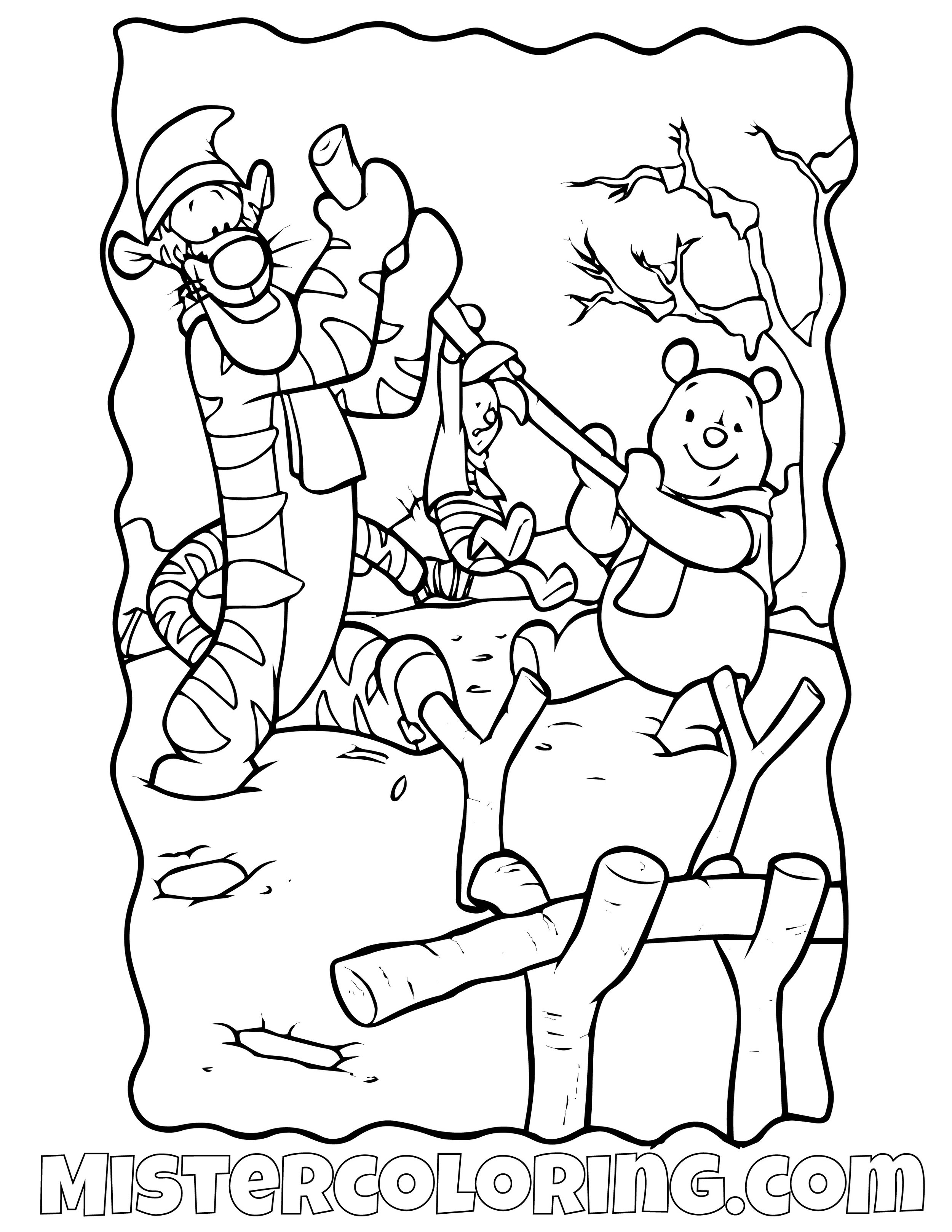 Winnie The Pooh 24 Coloring Page