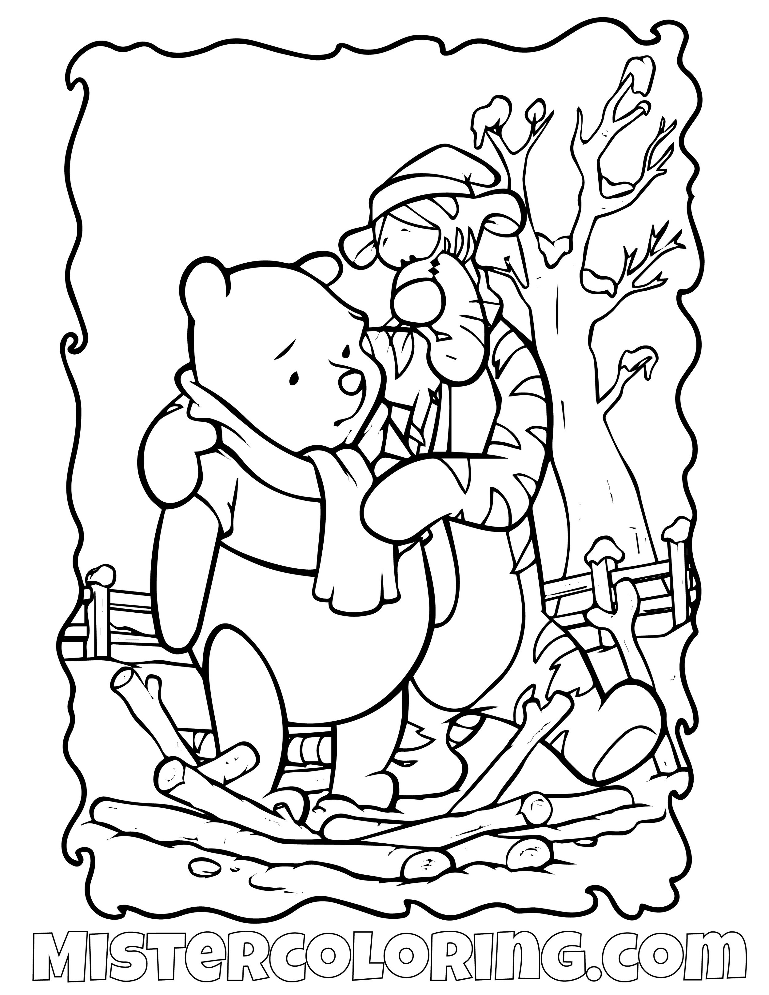 Winnie The Pooh 25 Coloring Page