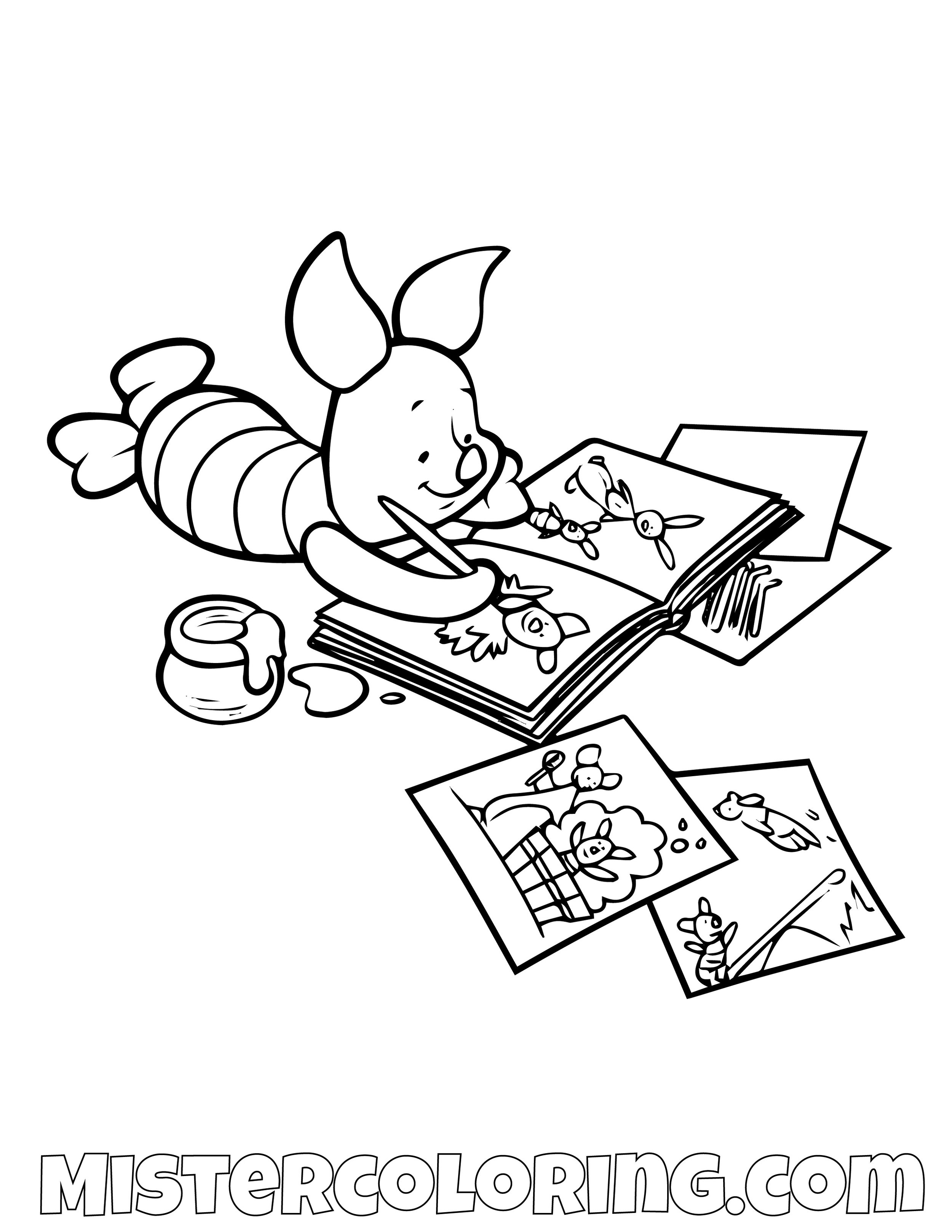 Winnie The Pooh 35 Coloring Page