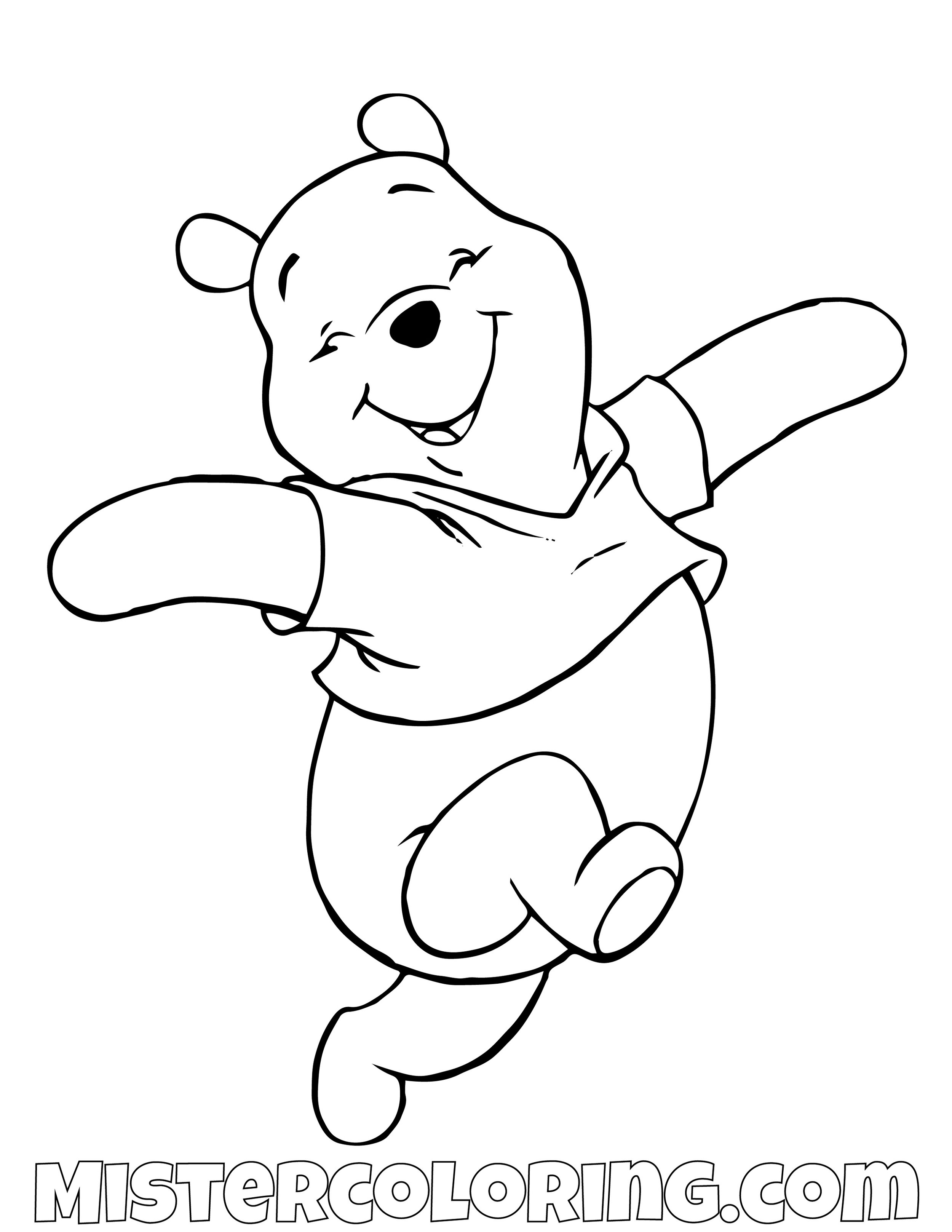Winnie The Pooh Happy Coloring Page