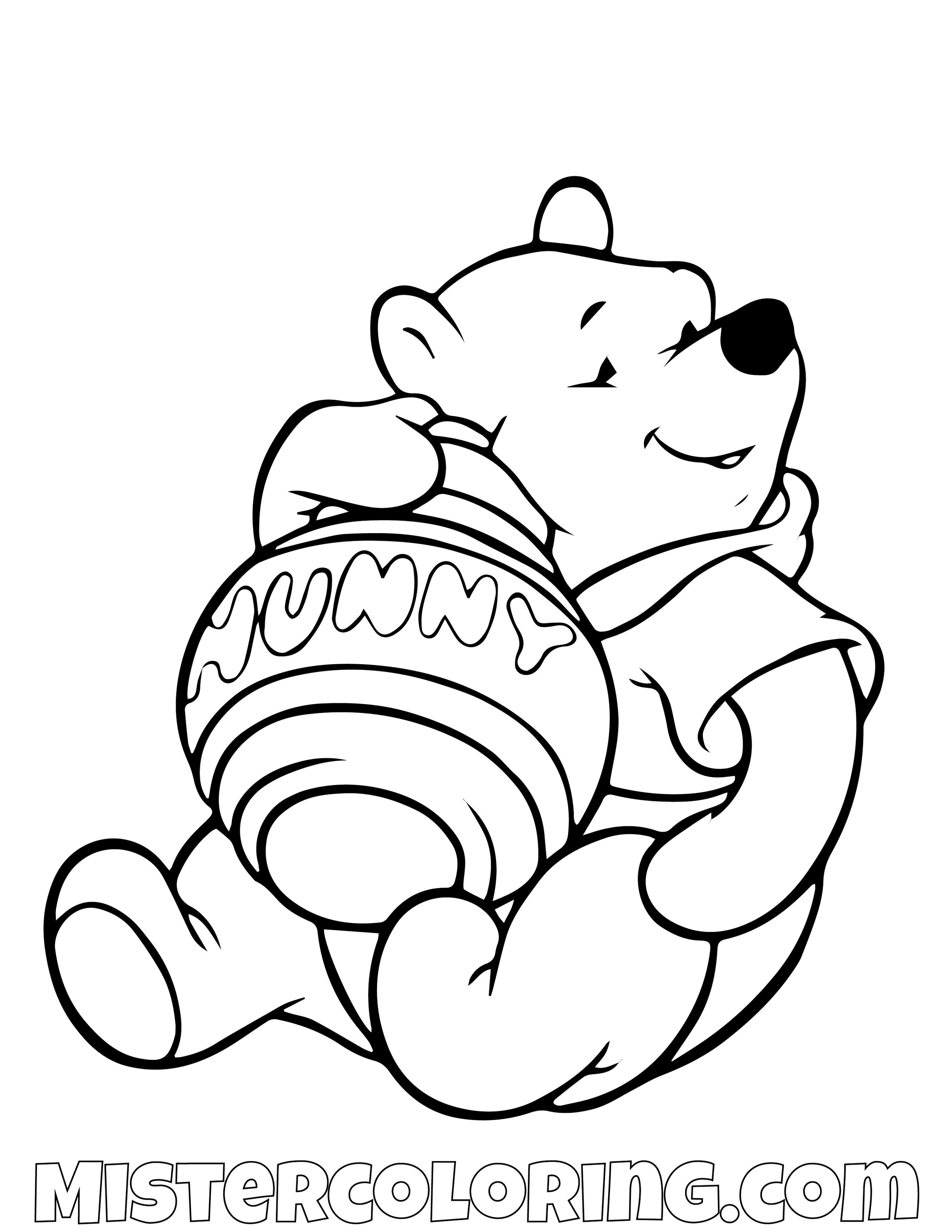 Winnie The Pooh Hunny Coloring Page