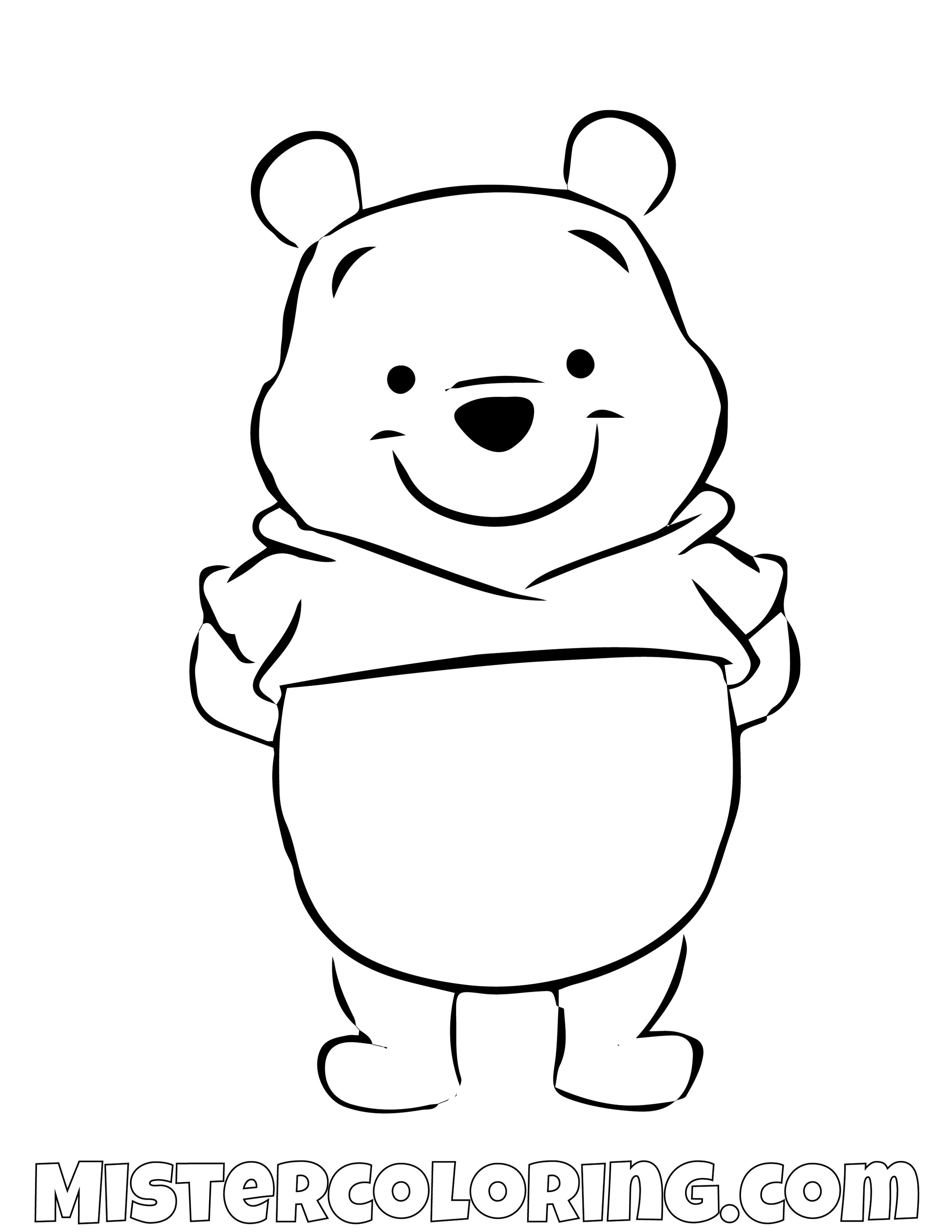 Winnie The Pooh Simple Coloring Page