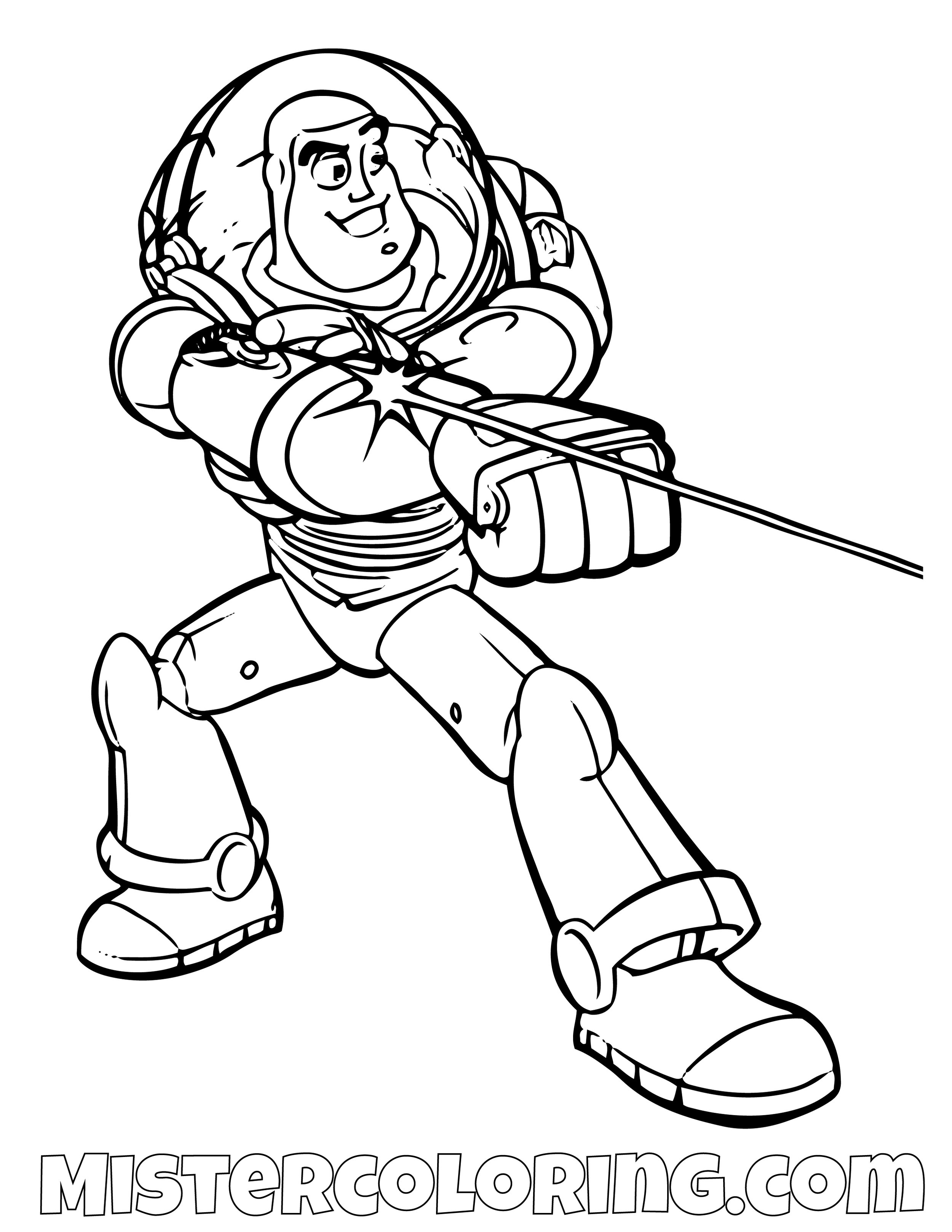 Buzz Lightyear Laser Toy Story Coloring Page