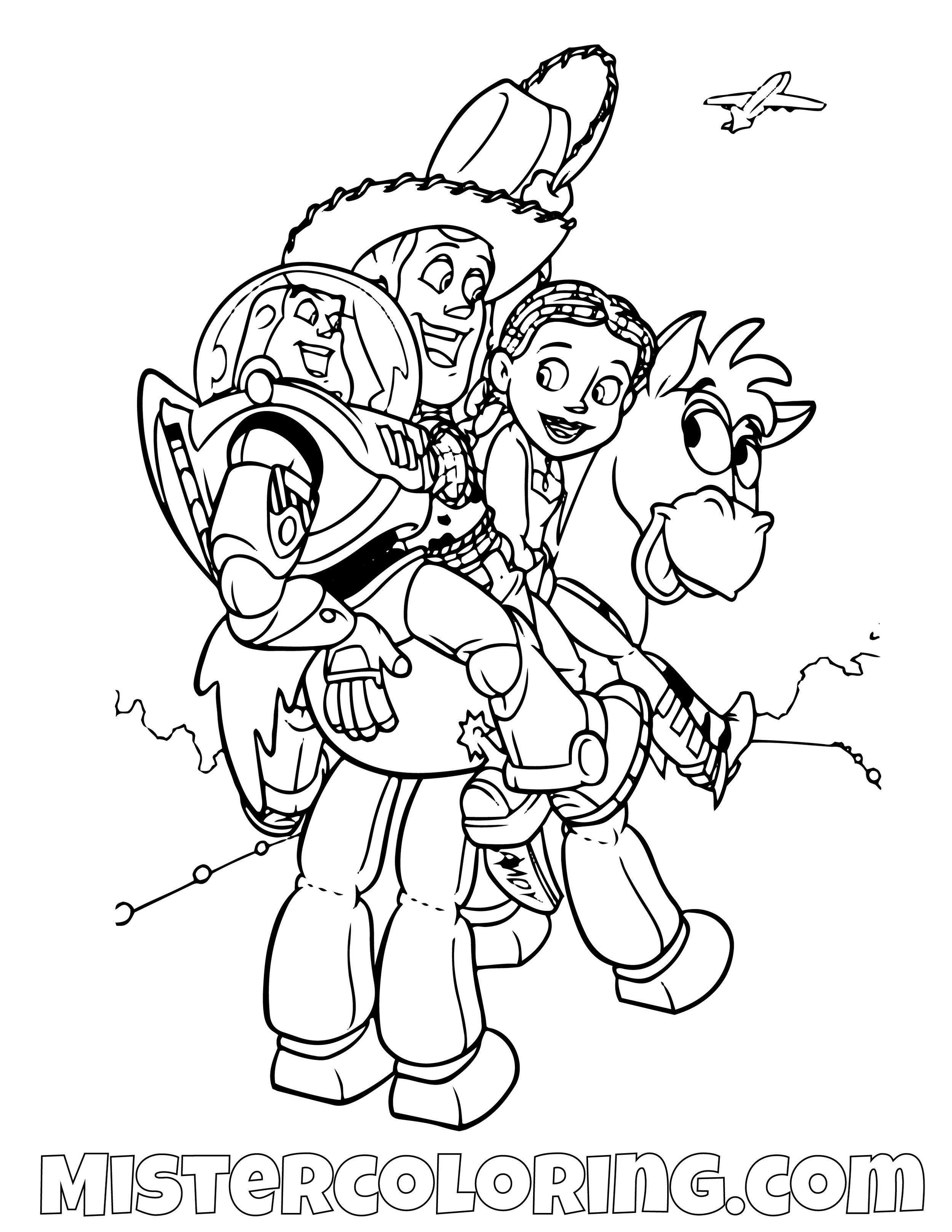 Toy Story Coloring Page For Kids Mister Coloring