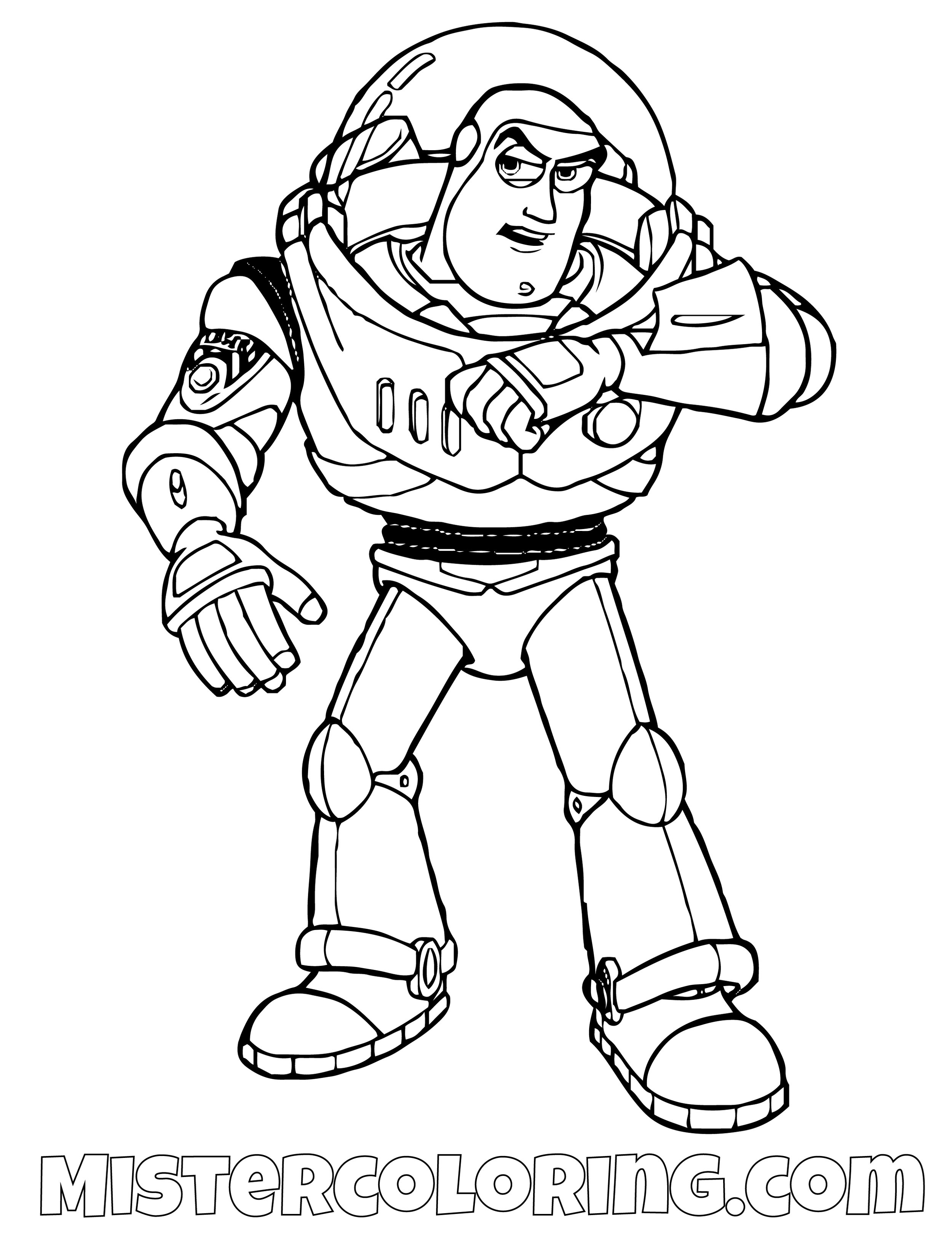 Buzz Lightyear Talking To His Scouter Toy Story Coloring Page