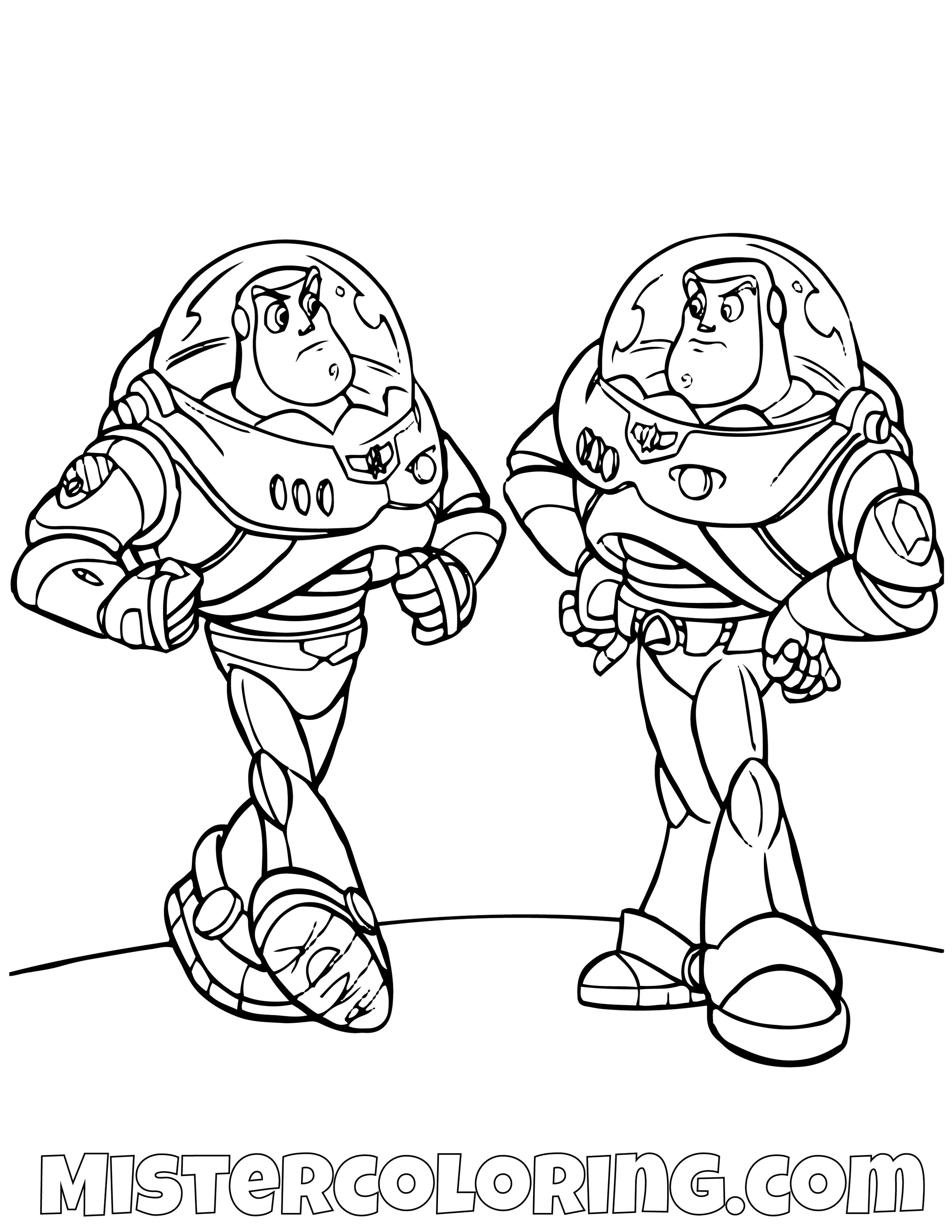 Buzz Lightyear Vs Buzz Lightyear Toy Story Coloring Page