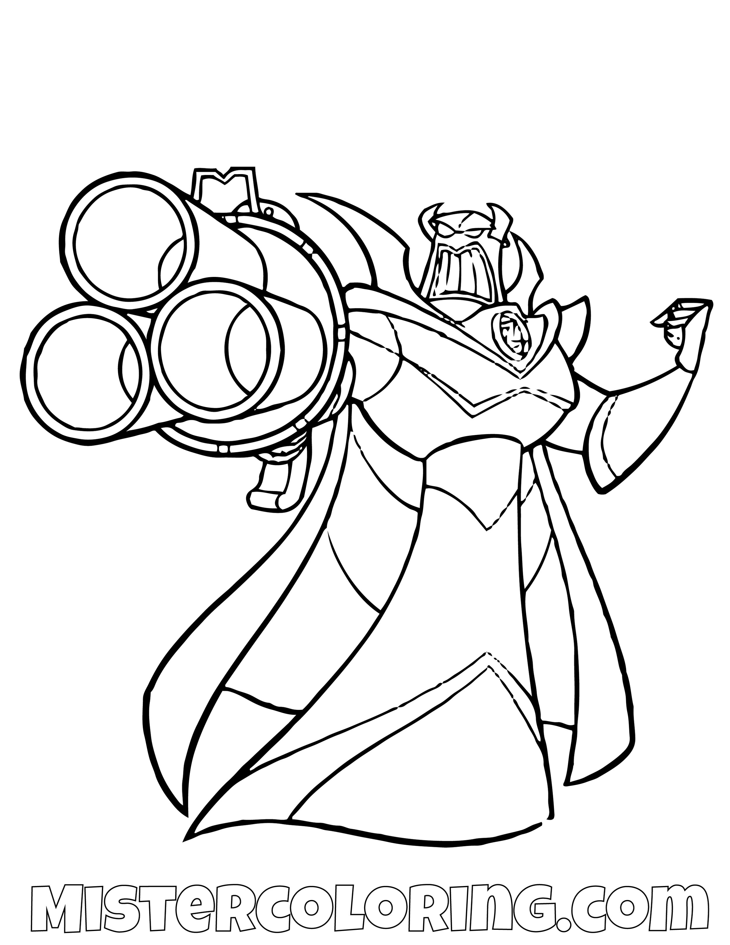 Evil Emperor Zurg Toy Story Coloring Page