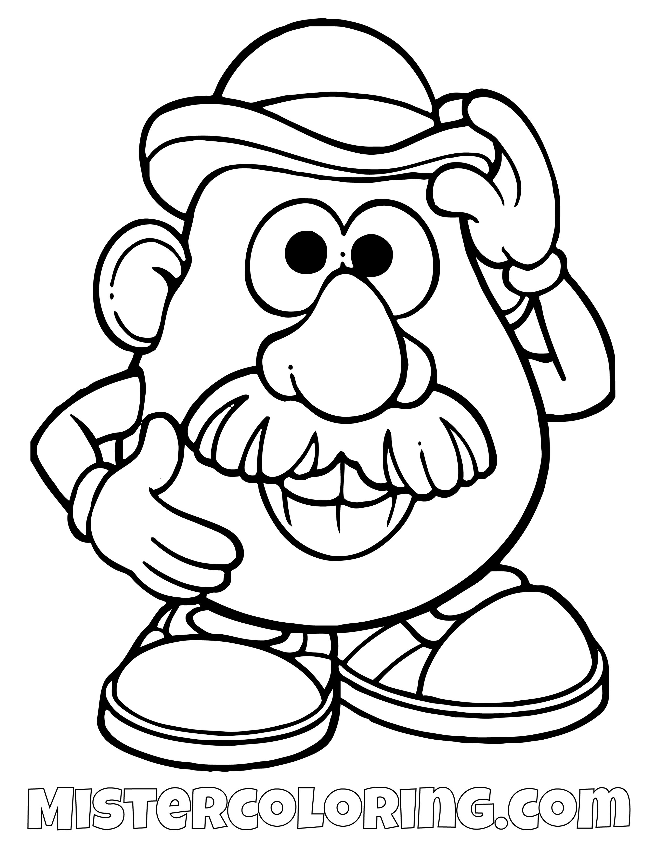 Mr Potato Head Greeting Toy Story Coloring Page