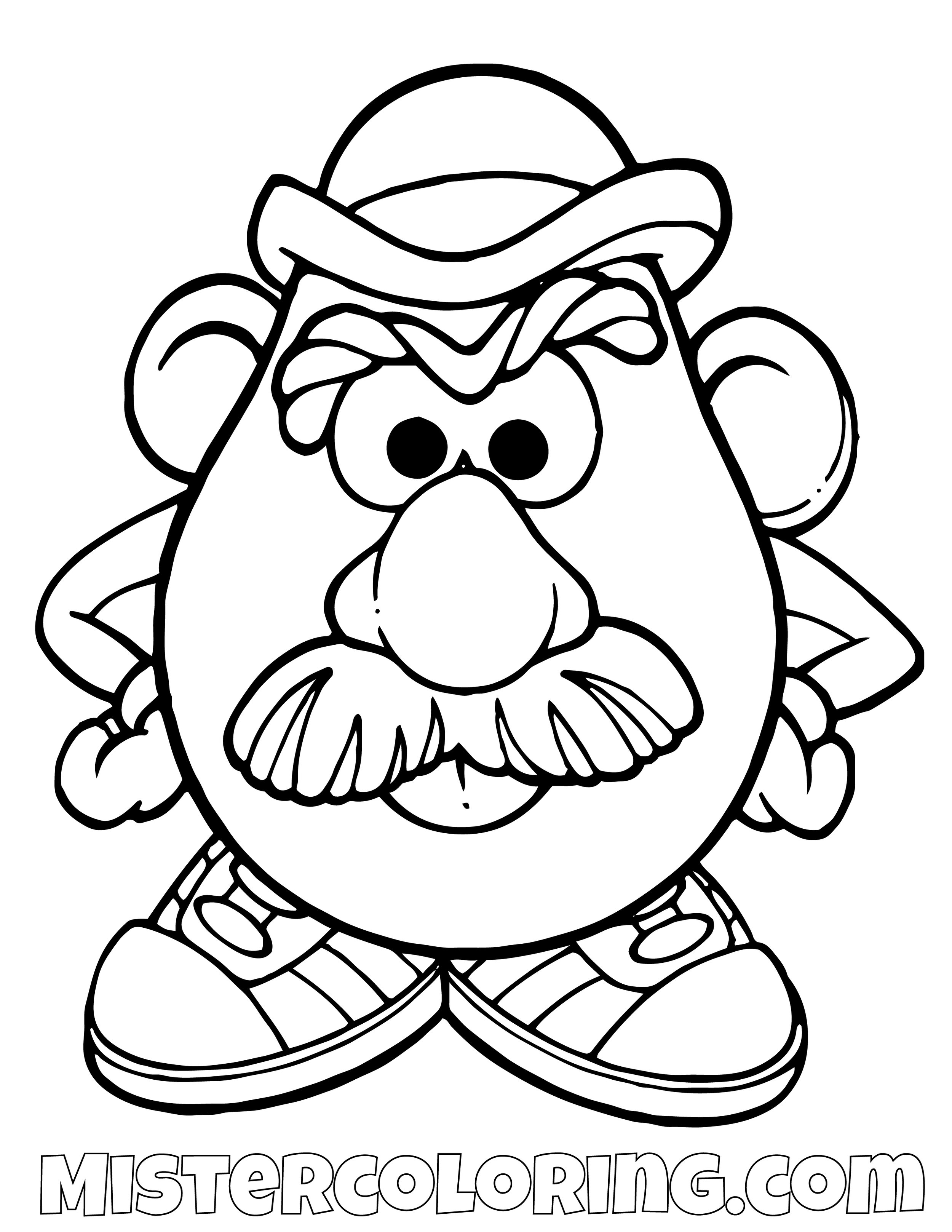 Mr Potato Head Mad Toy Story Coloring Page