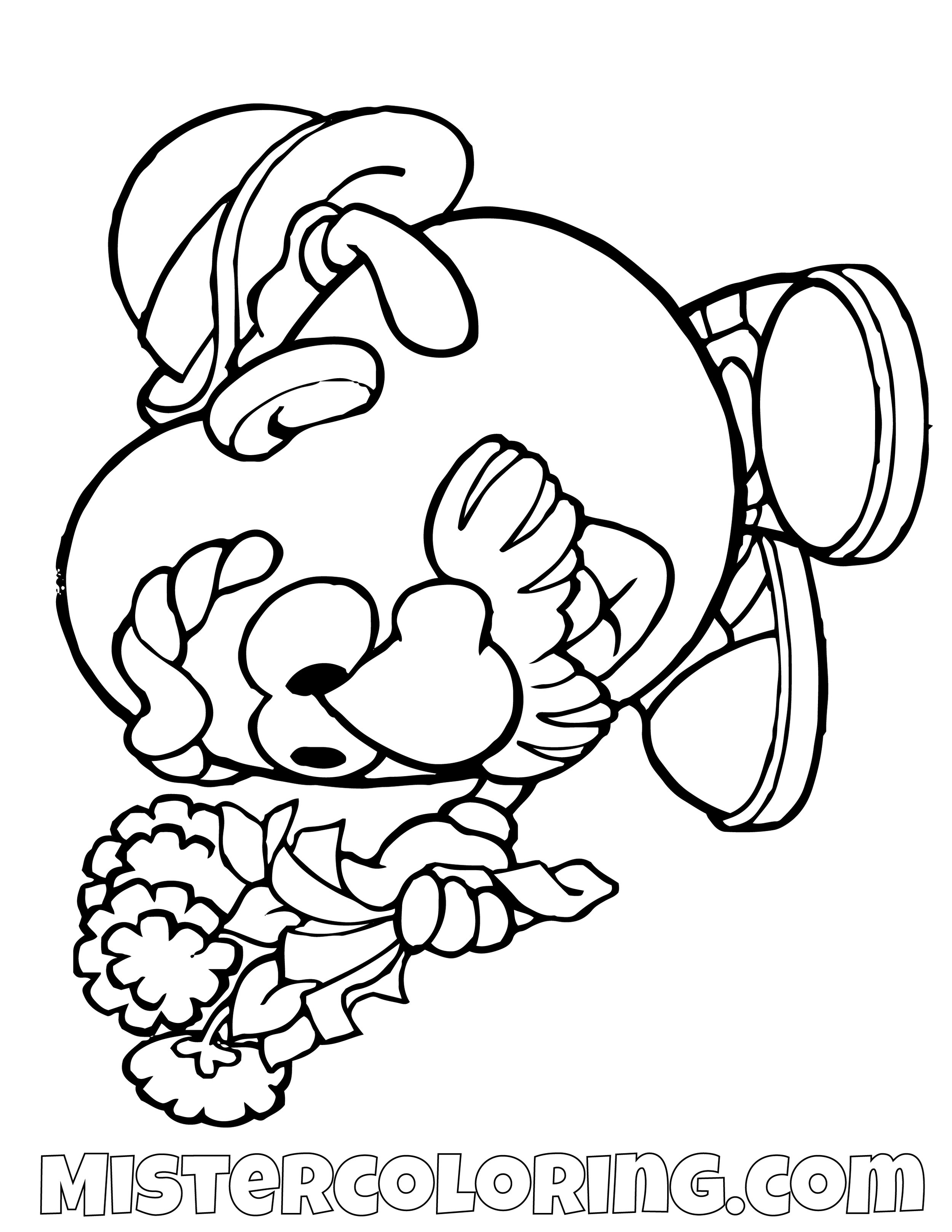 Mr Potato Head Offering Flowers Toy Story Coloring Page