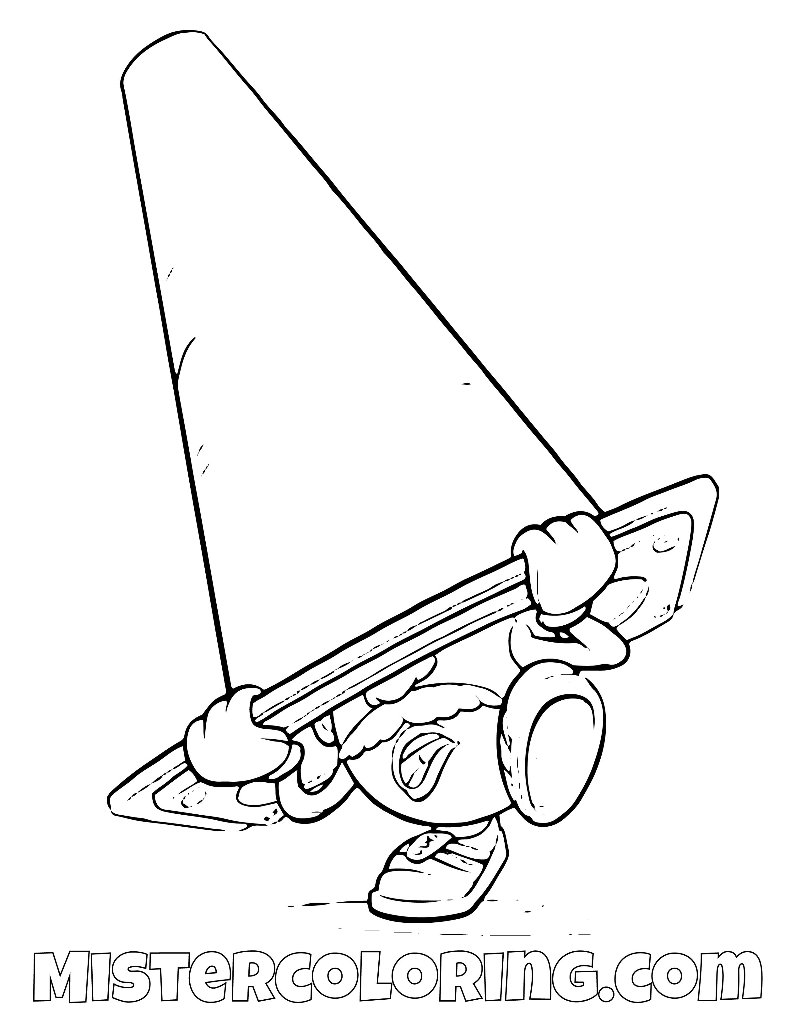 Mr Potato Under A Cone Toy Story Coloring Page