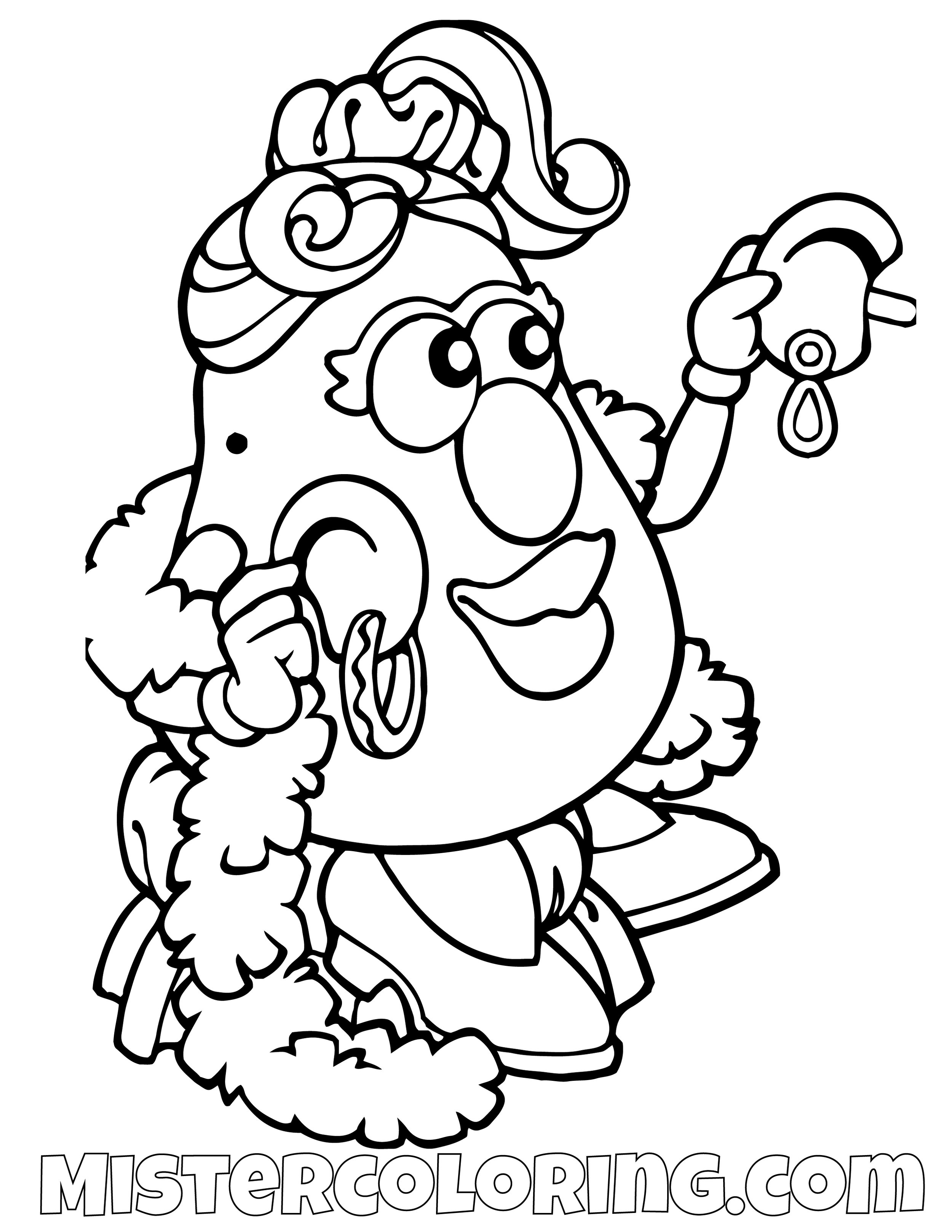 Mrs. Potato Head Fancy Toy Story Coloring Page