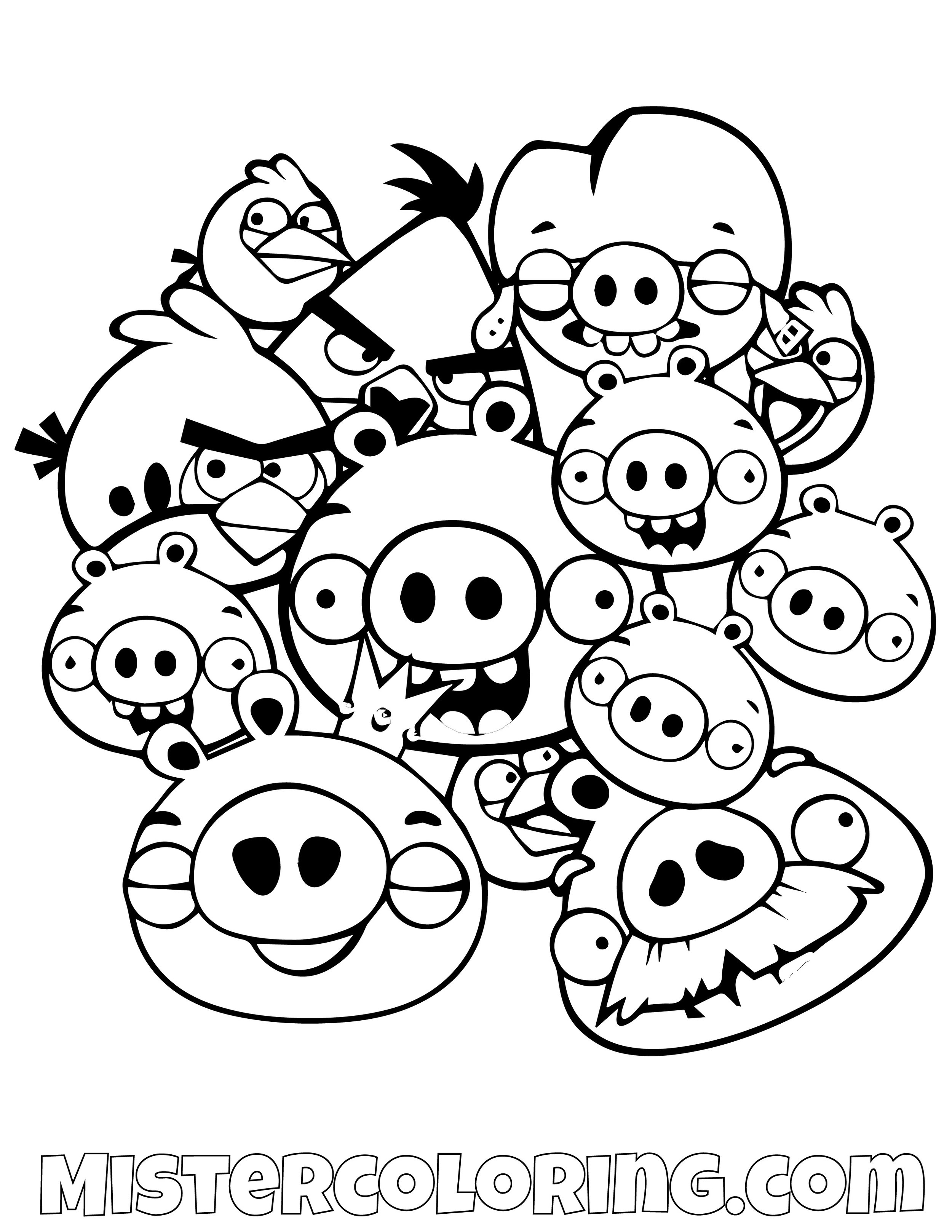 All Angry Birds Characters Coloring Pages
