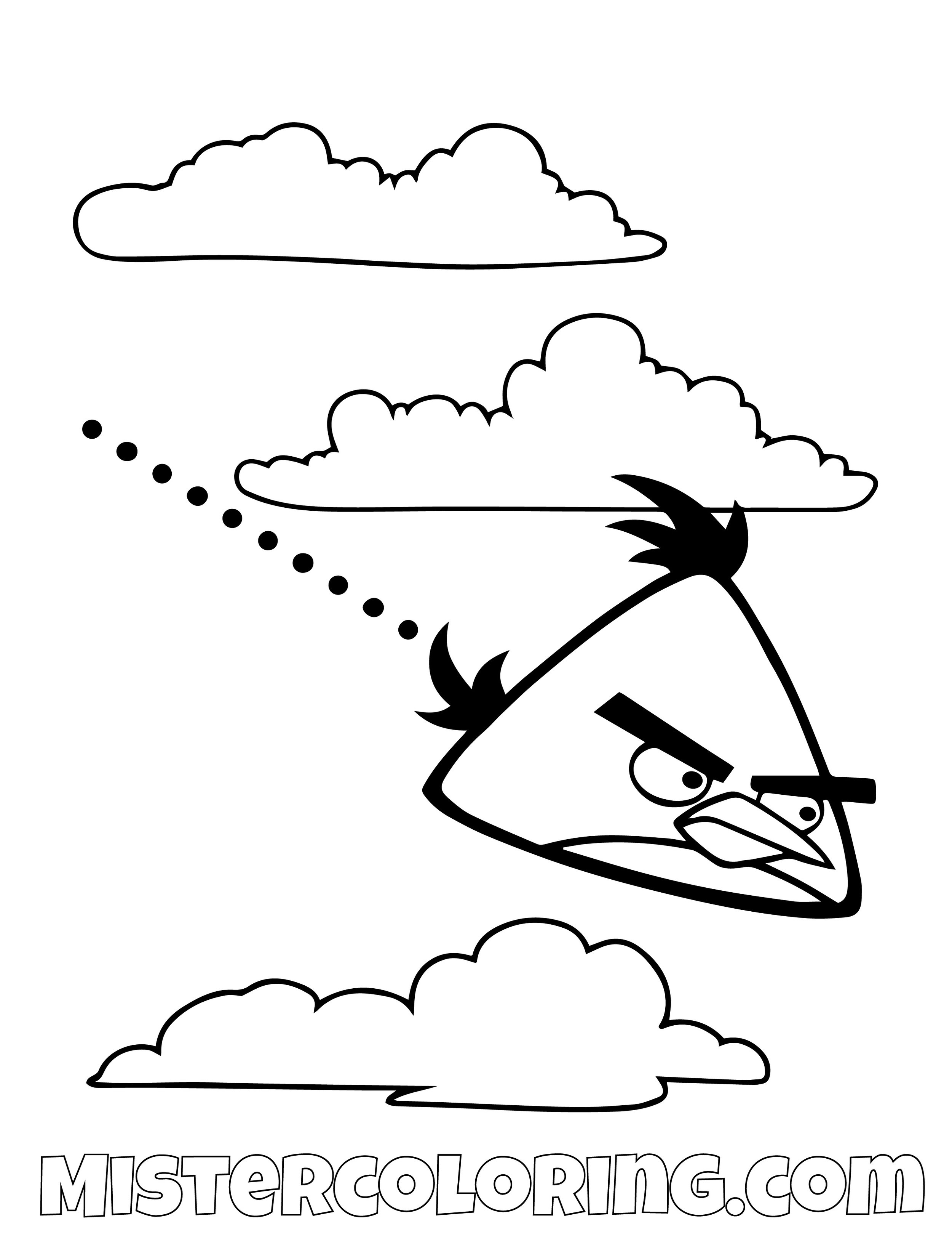 Chuck Flying Angry Bird Coloring Pages