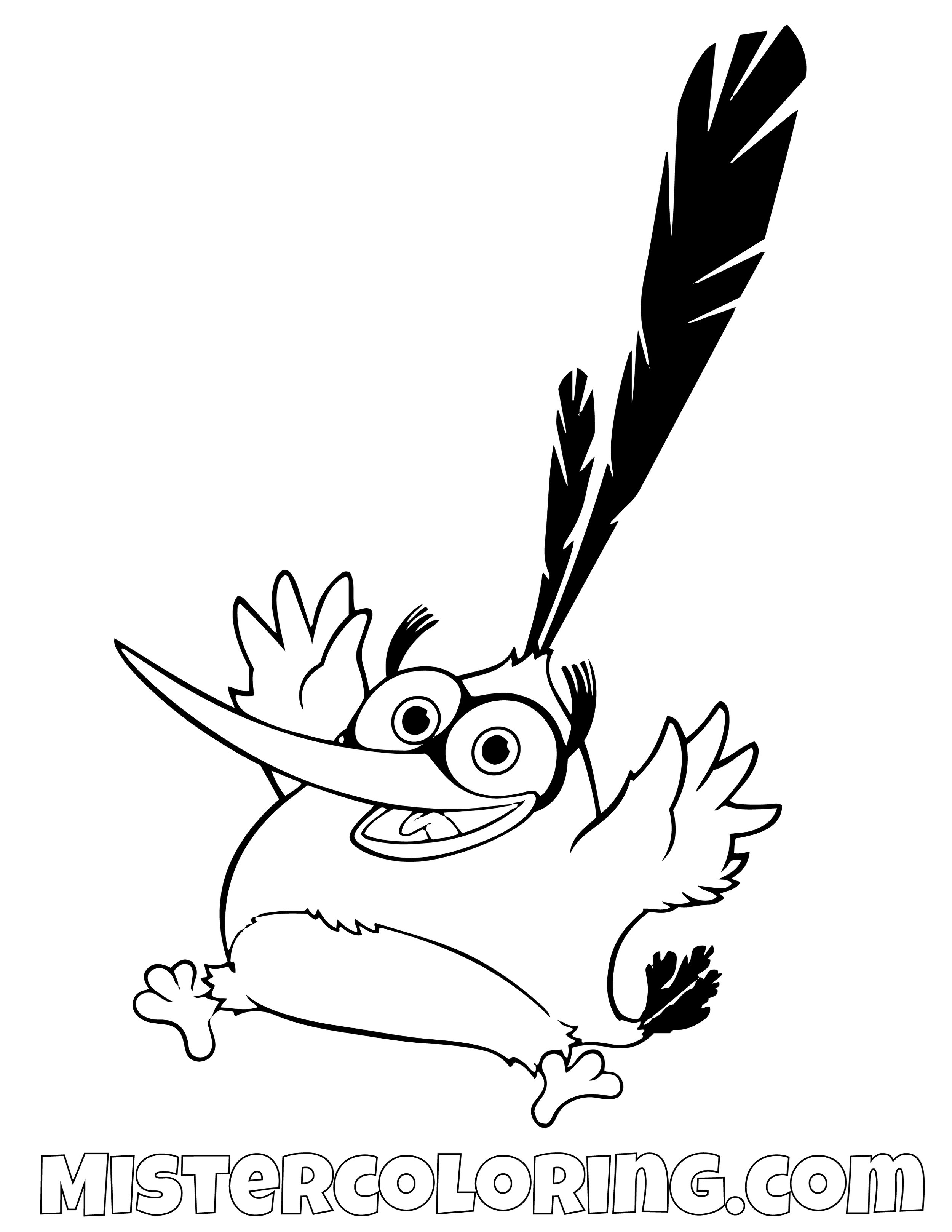 Chuck Excited Angry Bird Coloring Pages
