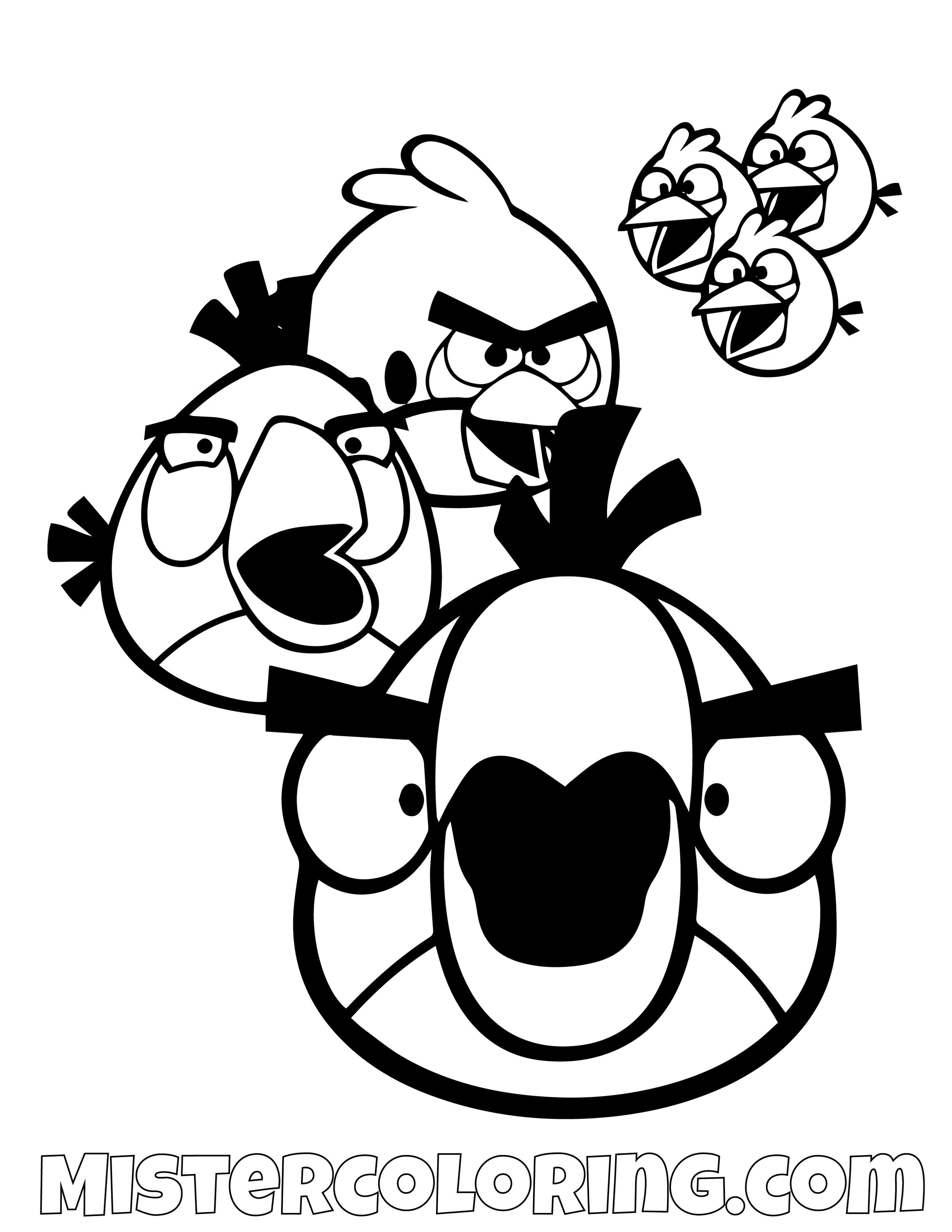 Hal Red Matilda And The Blues Angry Bird Coloring Pages