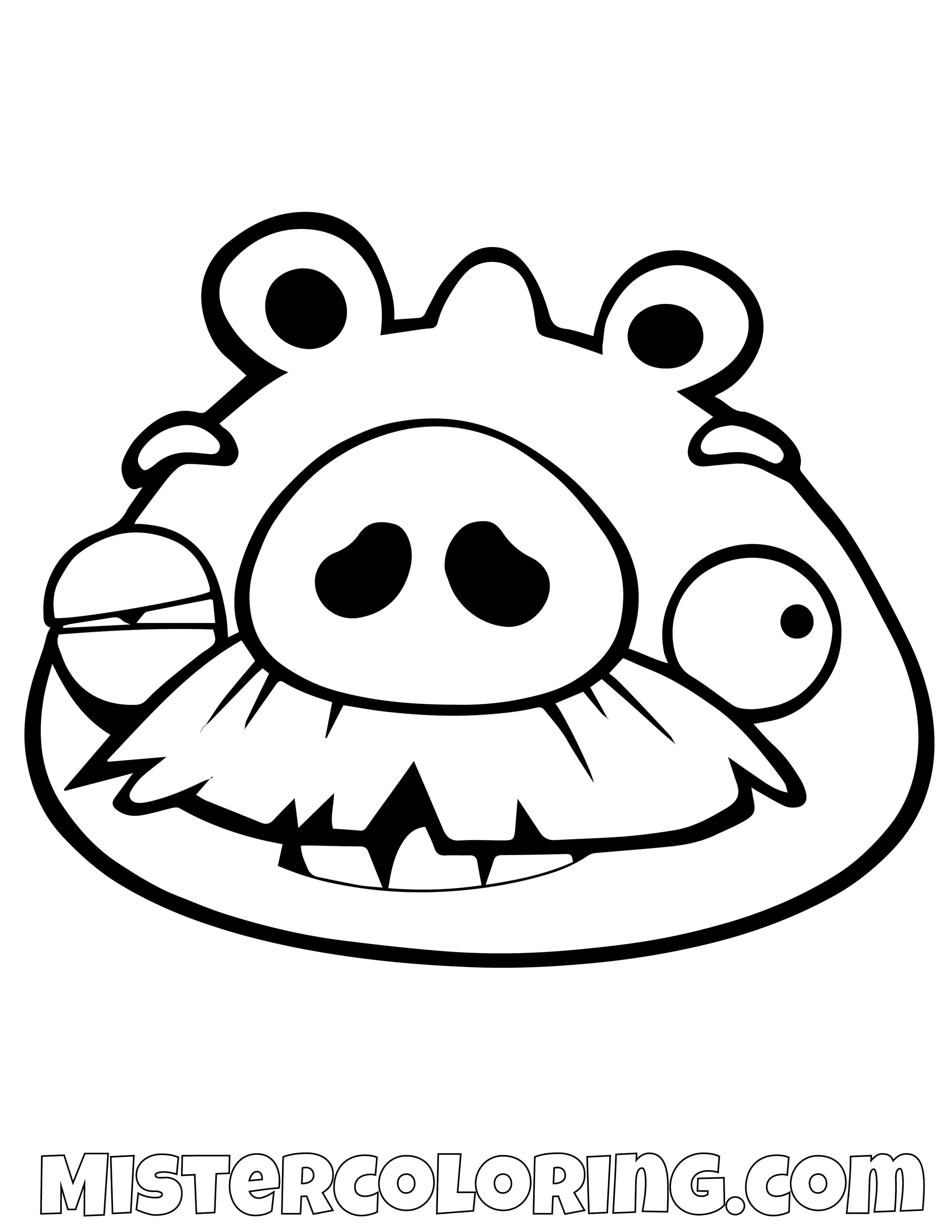 Pig Beat Up Angry Bird Coloring Pages