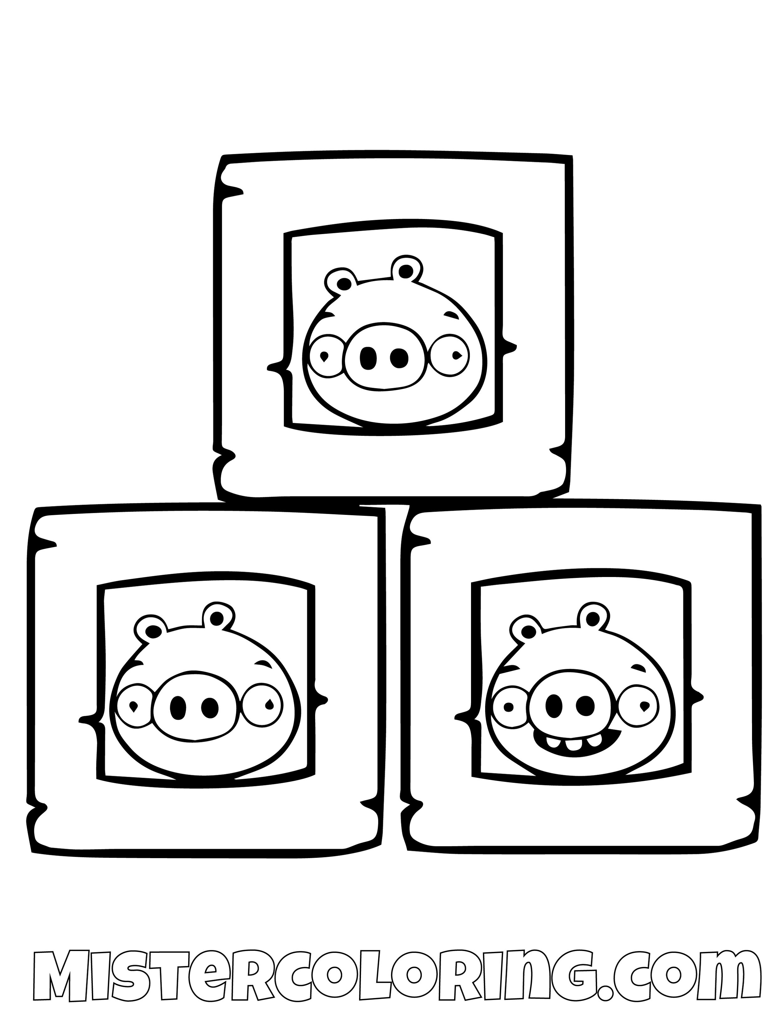 Pigs In A Box Angry Bird Coloring Pages