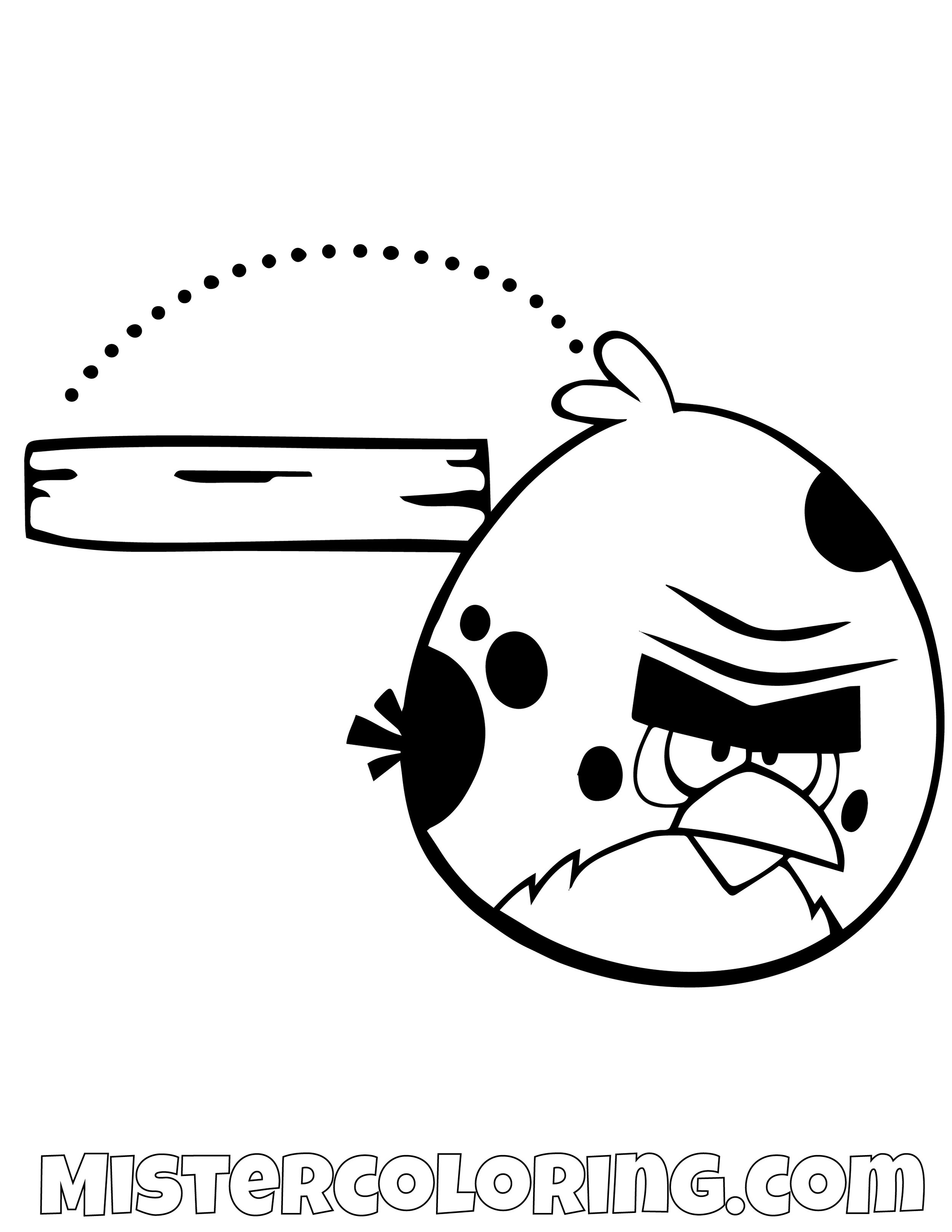 Terence Bouncing Angry Bird Coloring Pages
