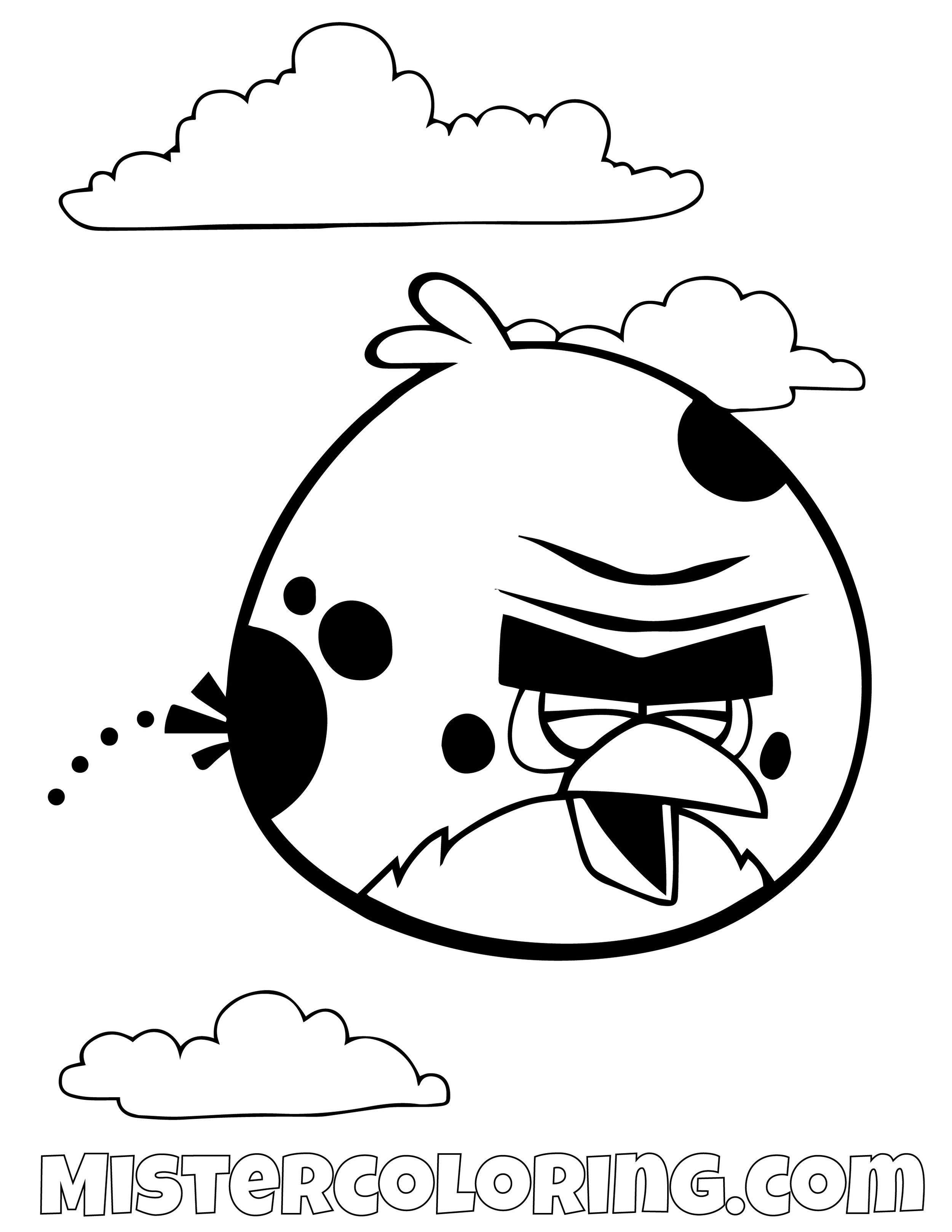 Terence Bouncing Happy Angry Bird Coloring Pages