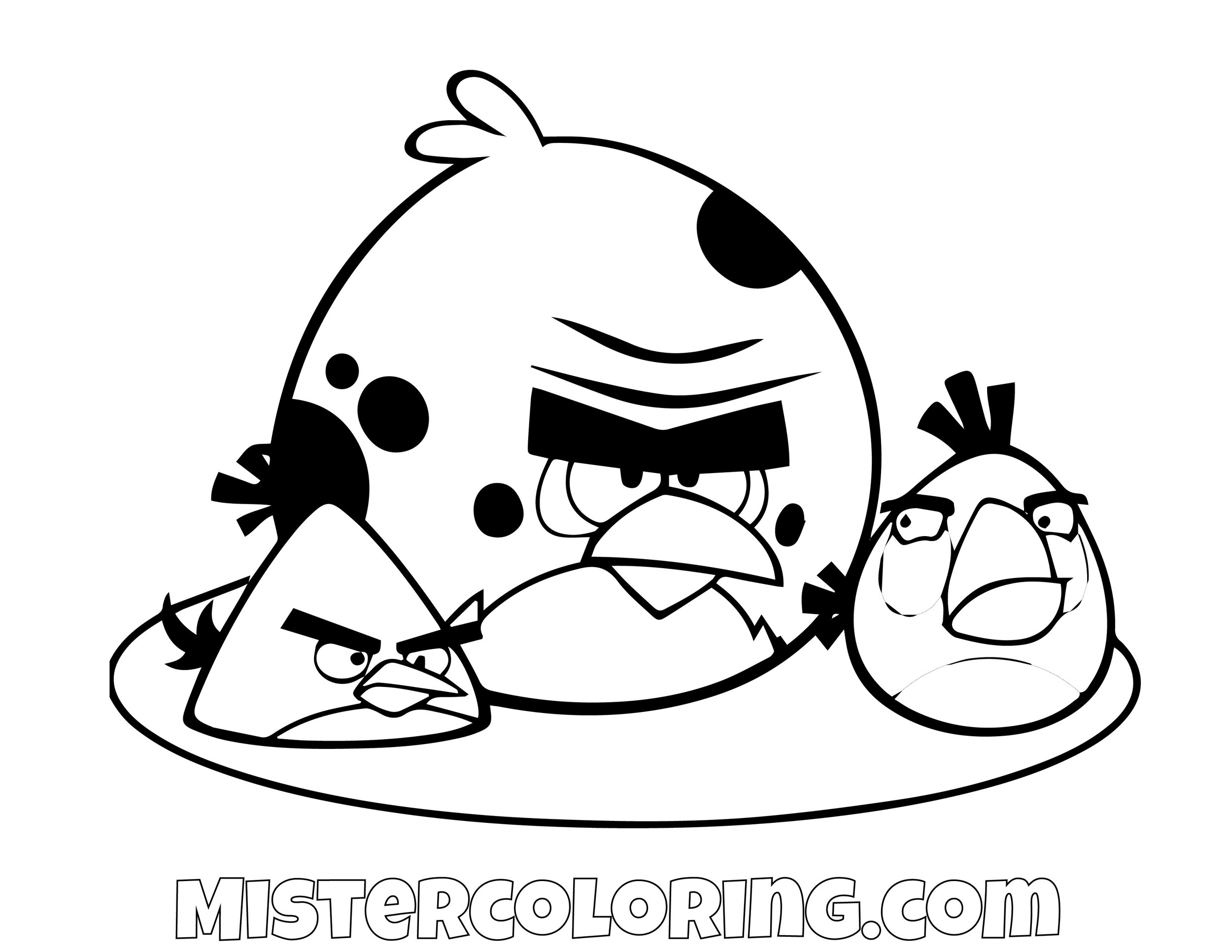 Terence Chuck Angry Birds Coloring Page