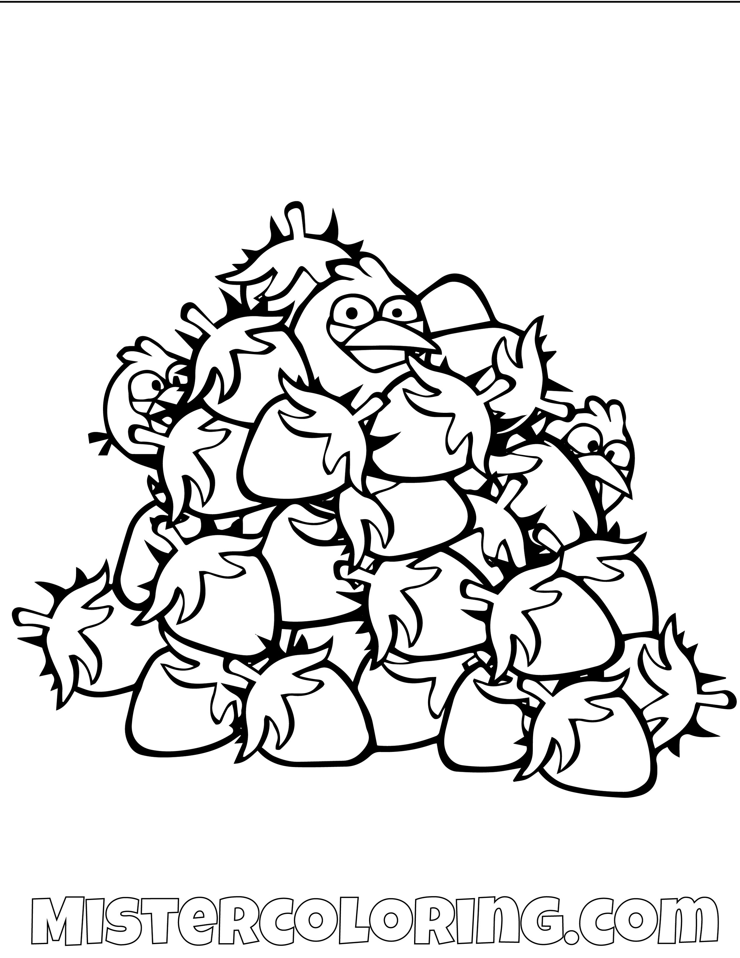 The Blues Angry Bird Coloring Pages
