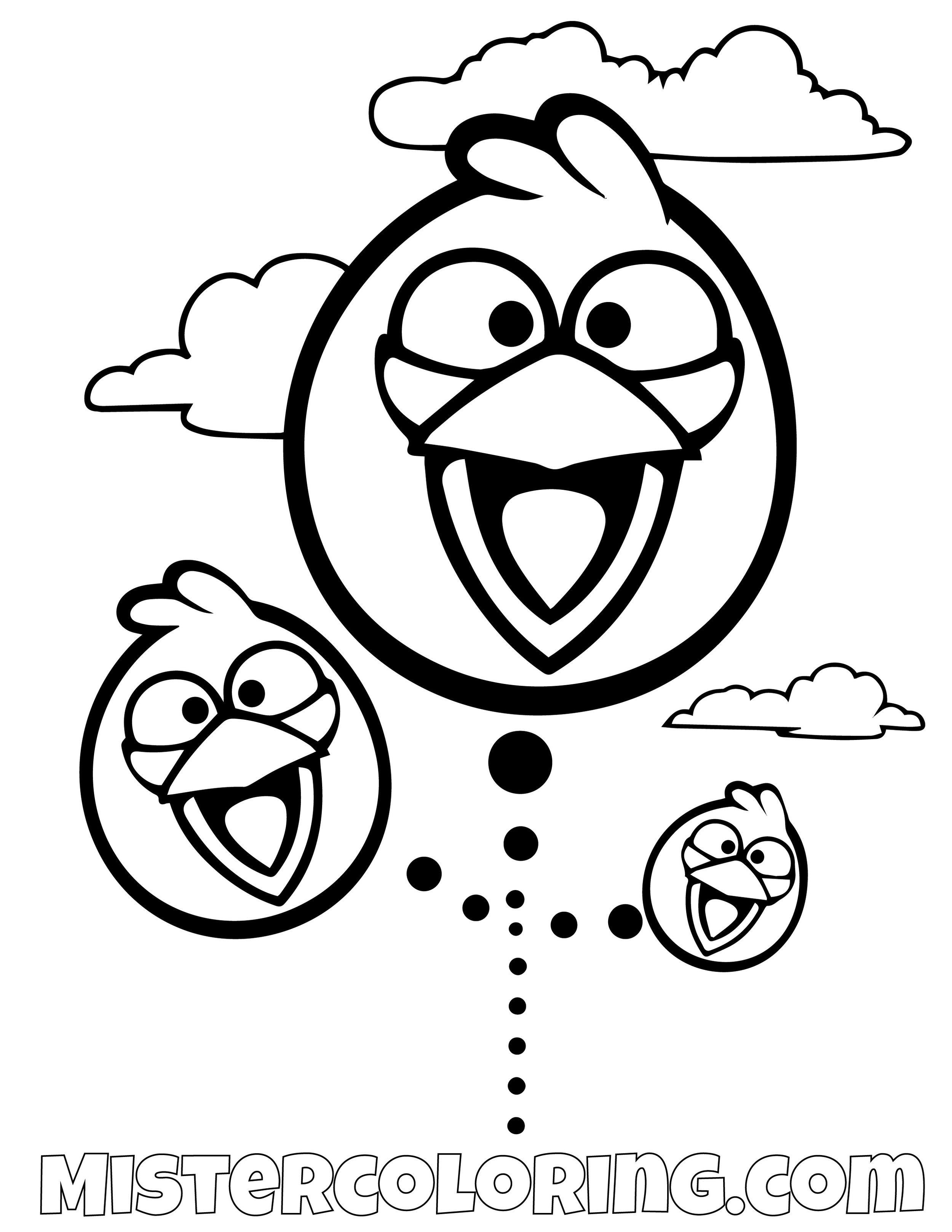 The Blues Flying Angry Bird Coloring Pages