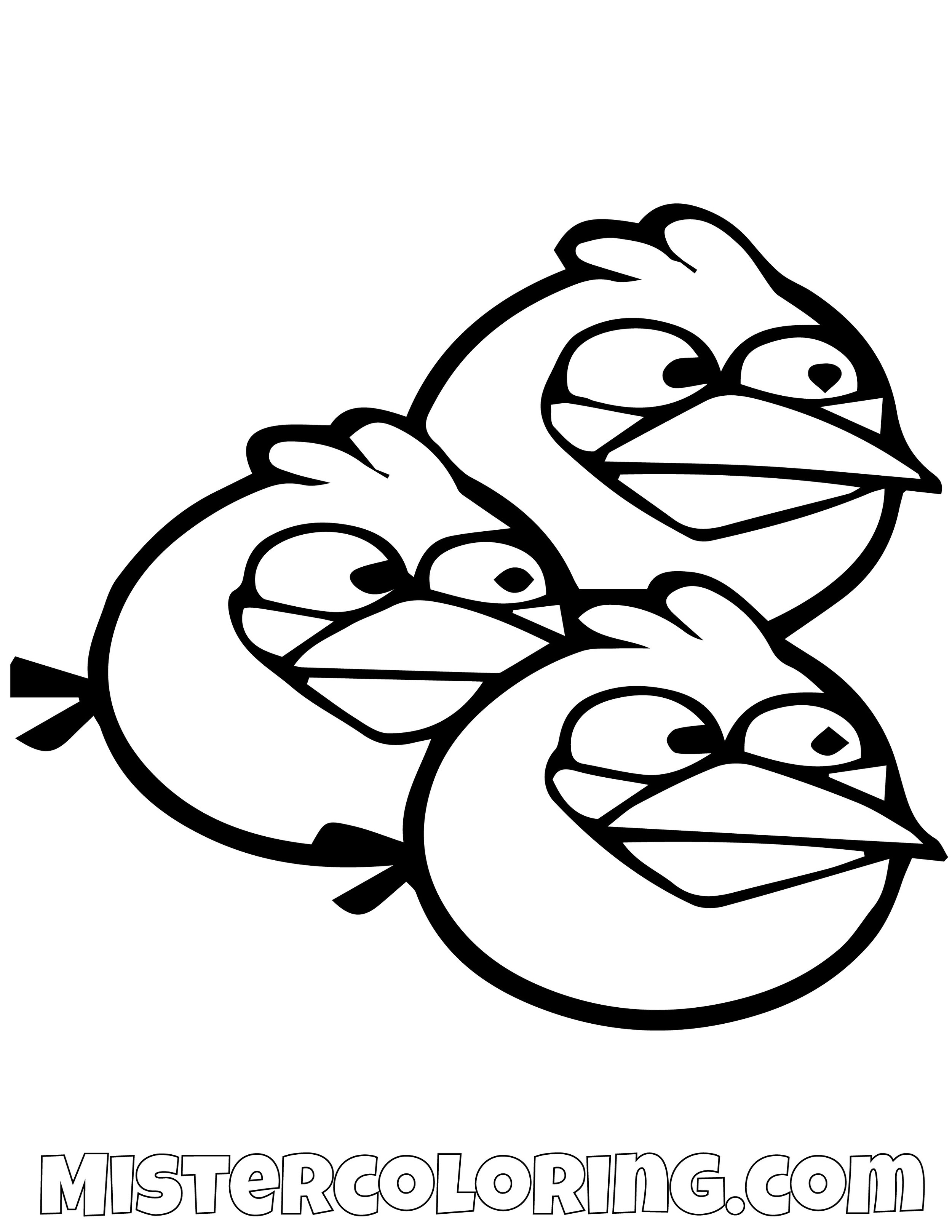 The Blues Simple Angry Bird Coloring Pages