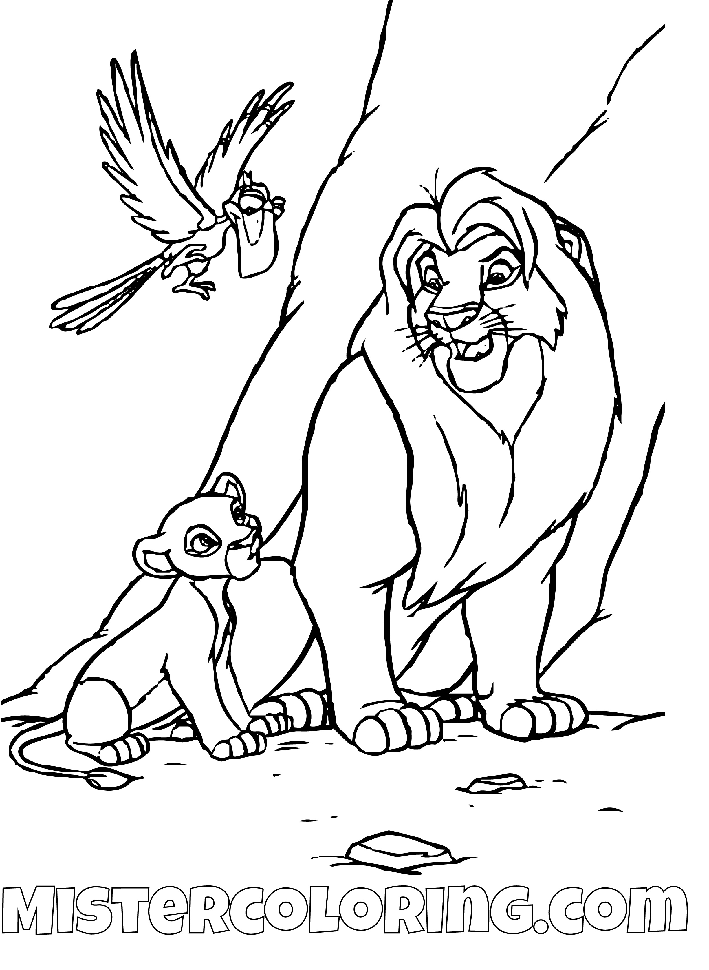 The Lion King coloring pages - 100 free Disney printables for kids ... | 1367x1000